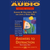 Answers to Distraction Audiobook, by Edward M. Hallowell, John J. Ratey