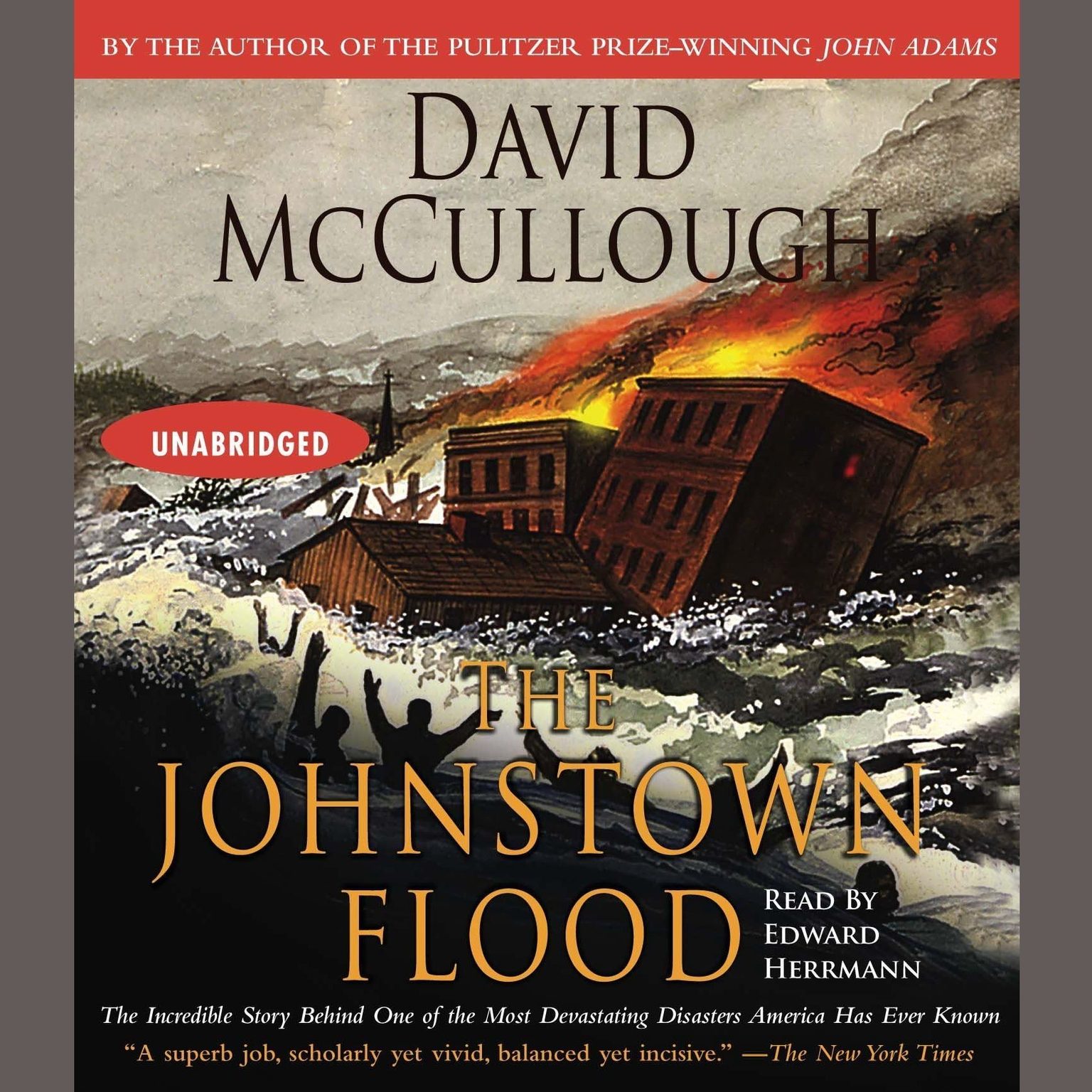 Printable The Johnstown Flood Audiobook Cover Art