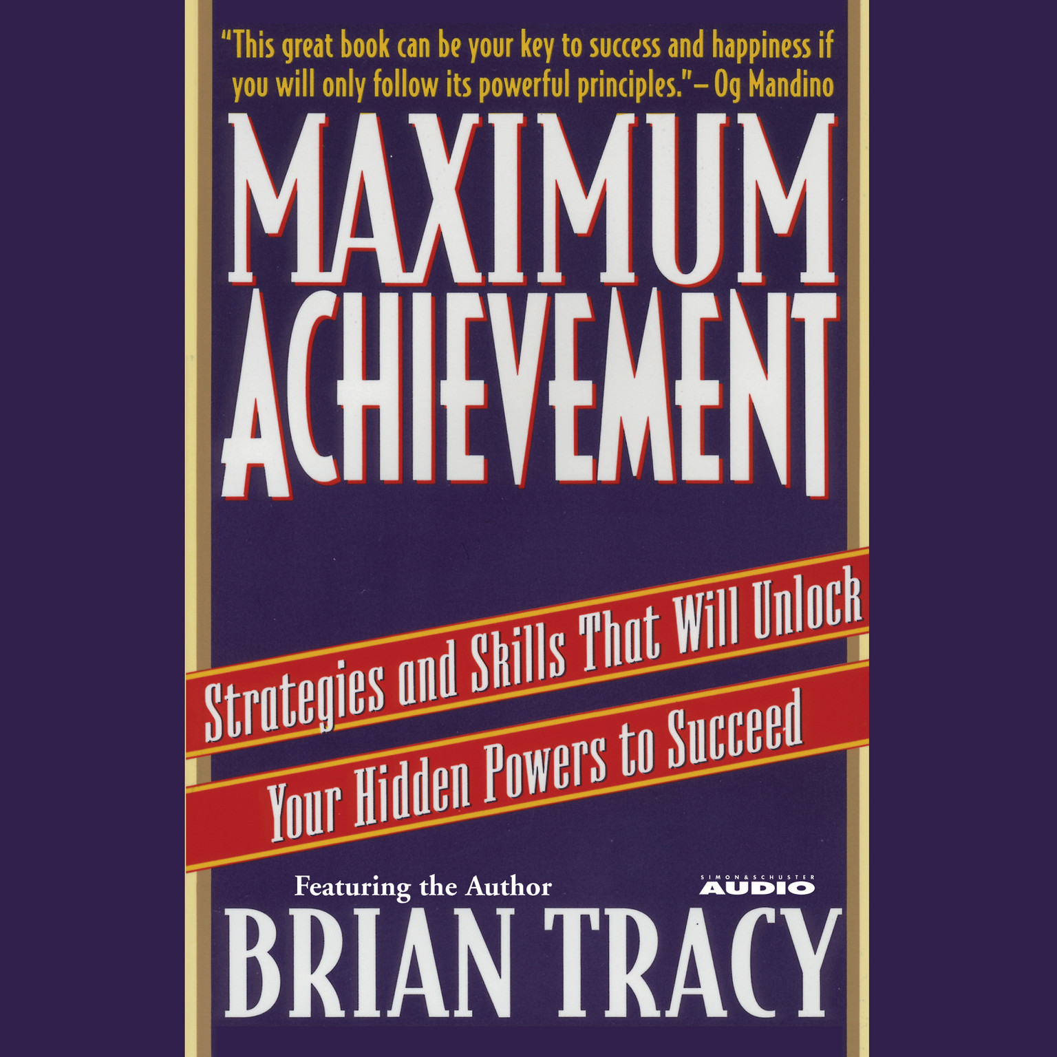 Printable Maximum Achievement Audiobook Cover Art