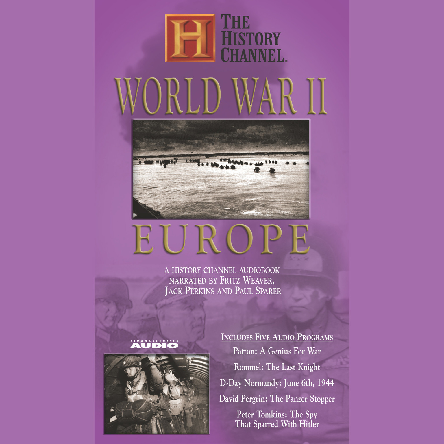 Printable World War II: Europe: A History Channel Audiobook Audiobook Cover Art
