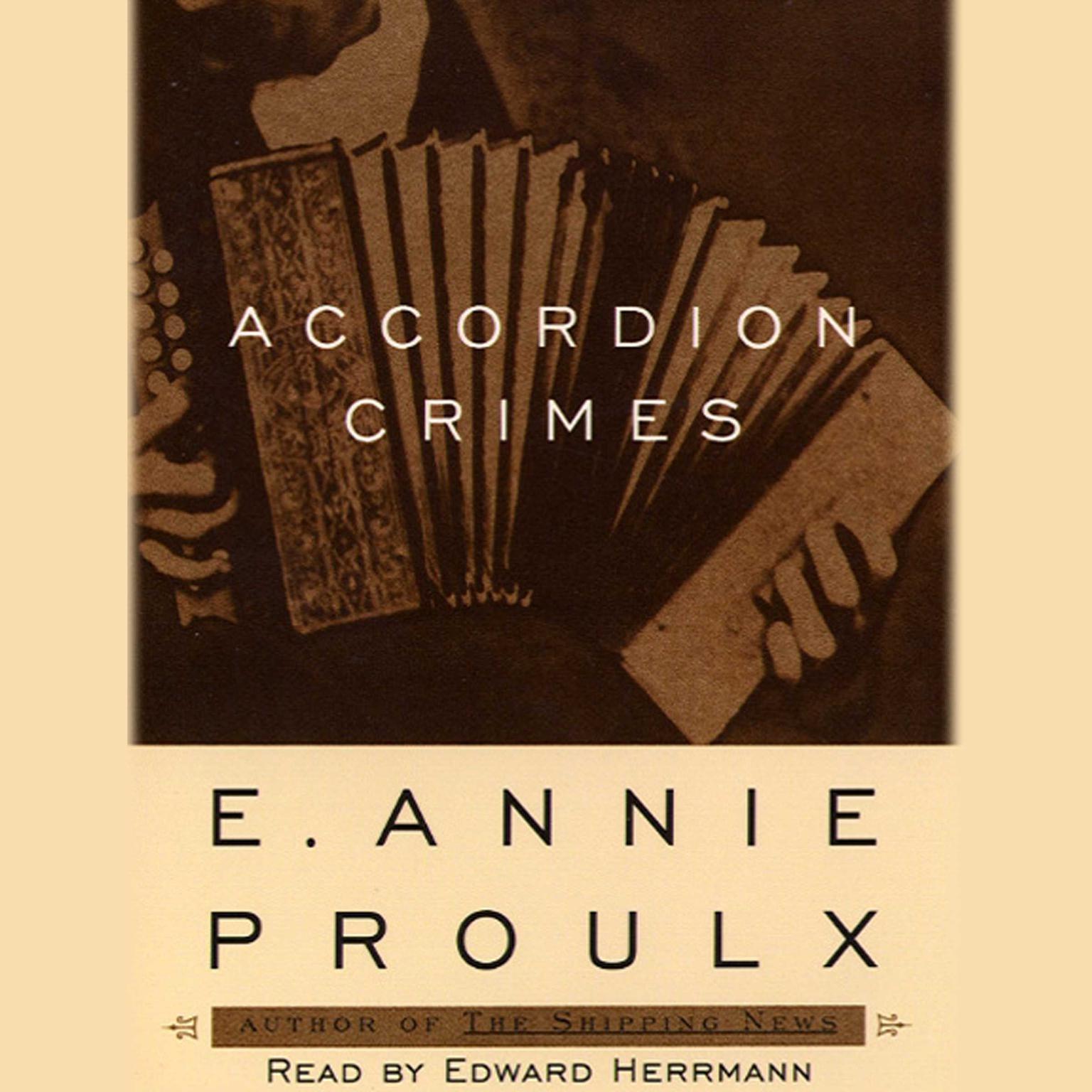 Printable Accordion Crimes Audiobook Cover Art