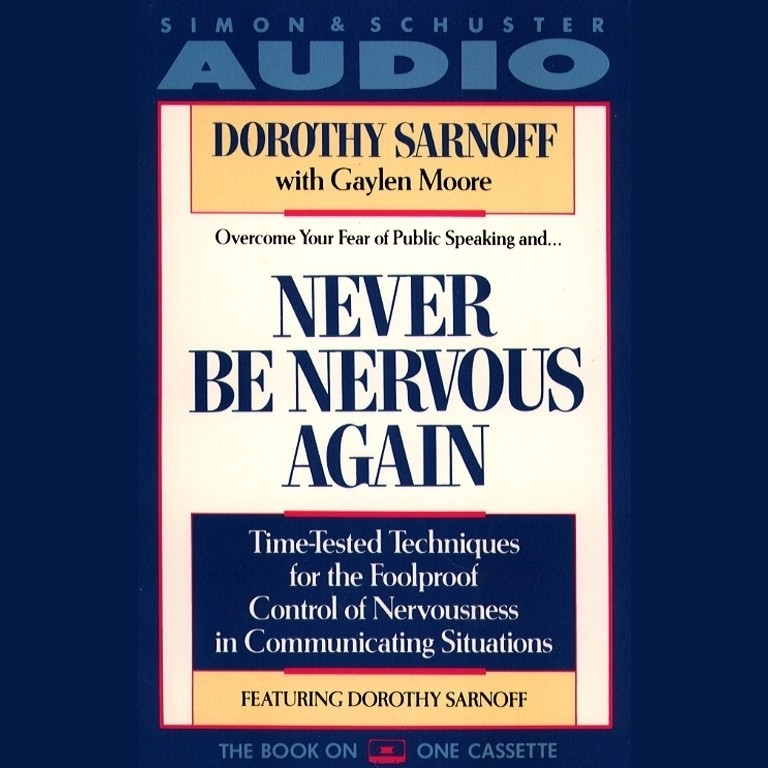 Printable Never Be Nervous Again Audiobook Cover Art