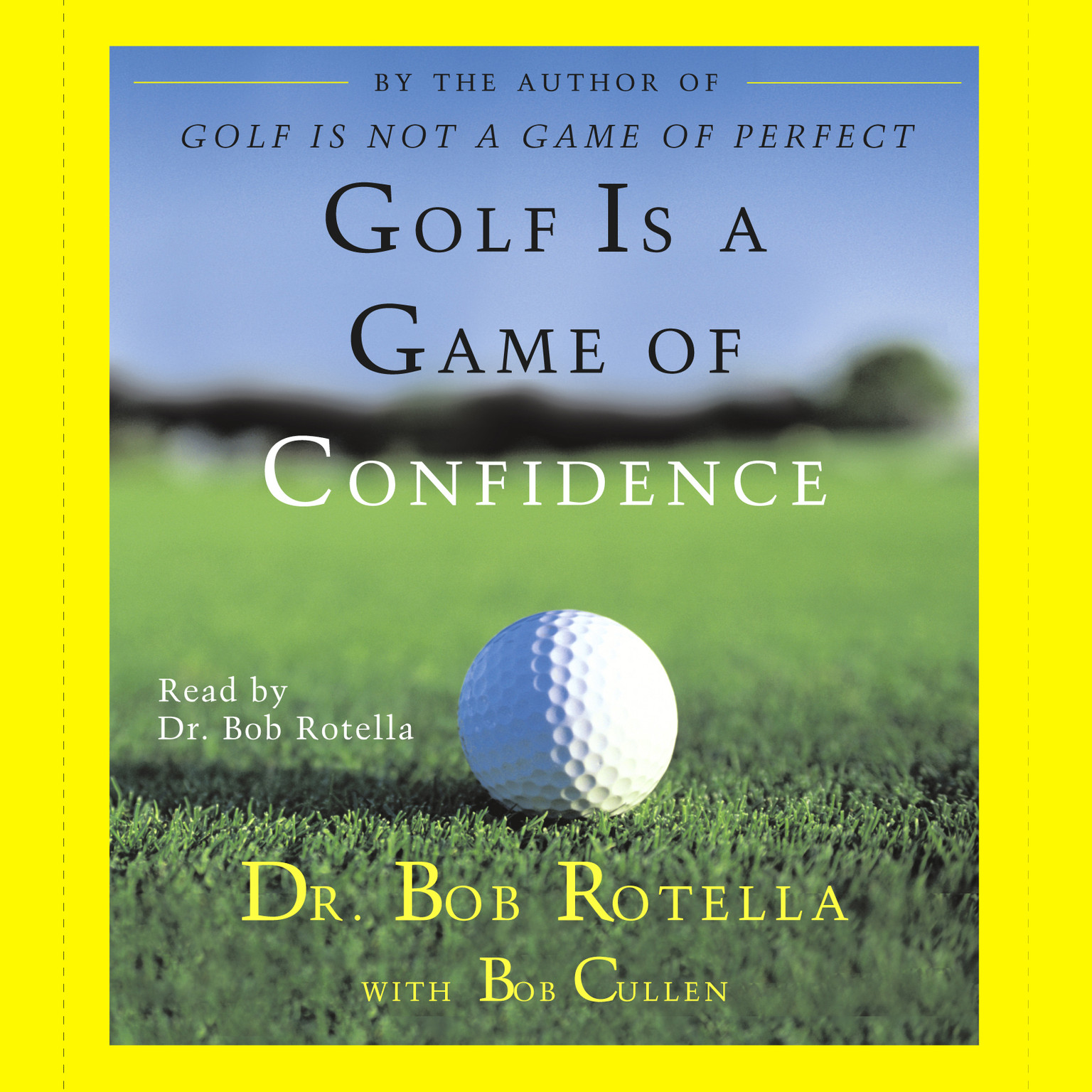 Printable Golf Is A Game Of Confidence Audiobook Cover Art
