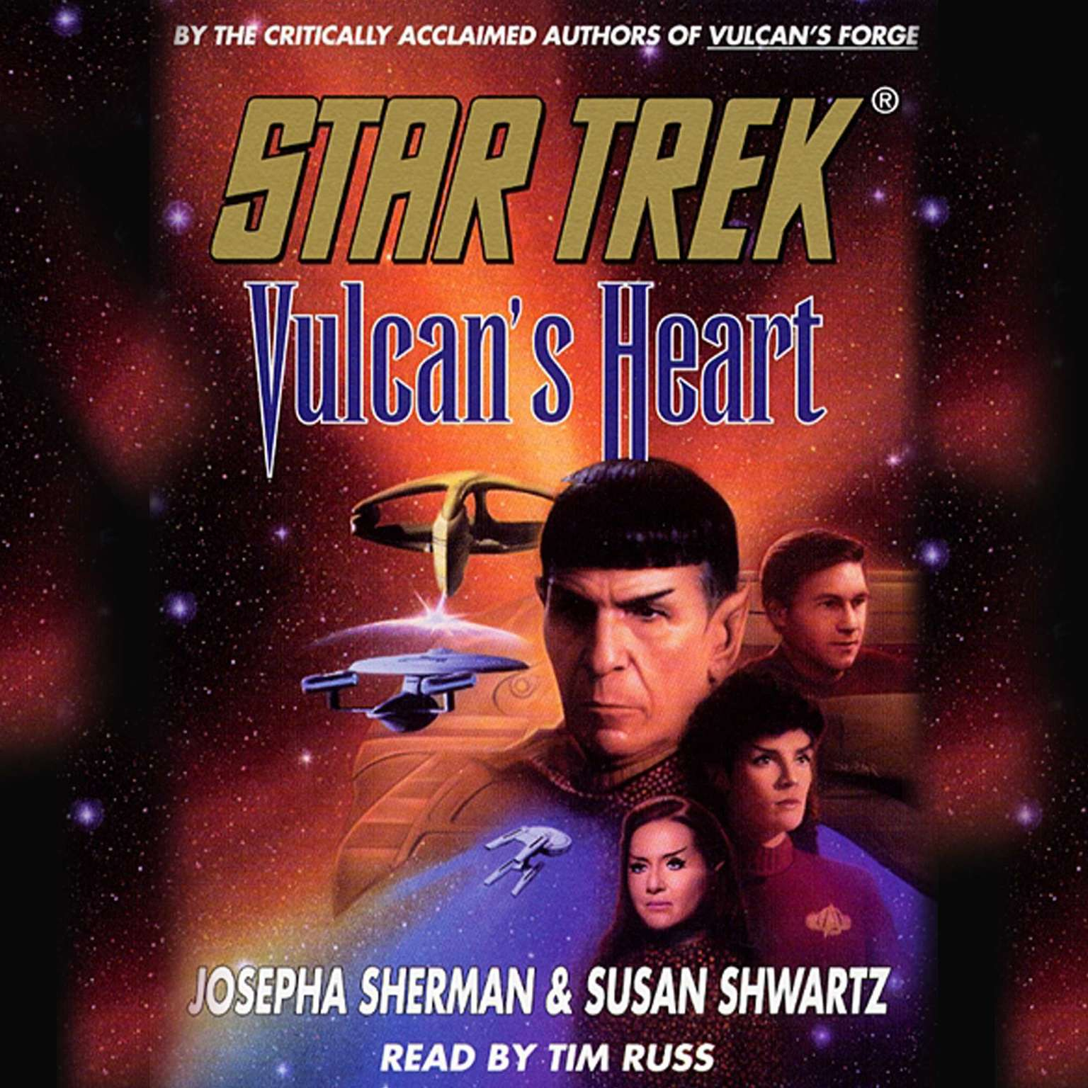 Printable Star Trek: Vulcan's Heart Audiobook Cover Art