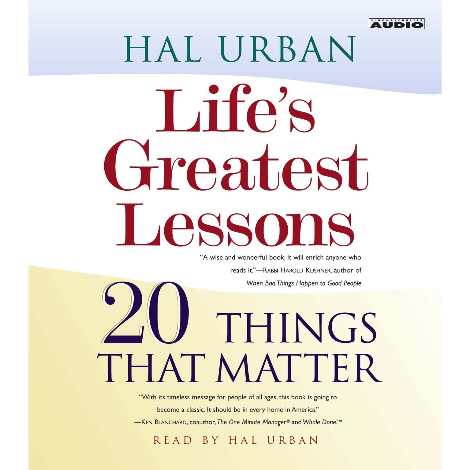 Printable Life's Greatest Lessons: 20 Things That Matter Audiobook Cover Art