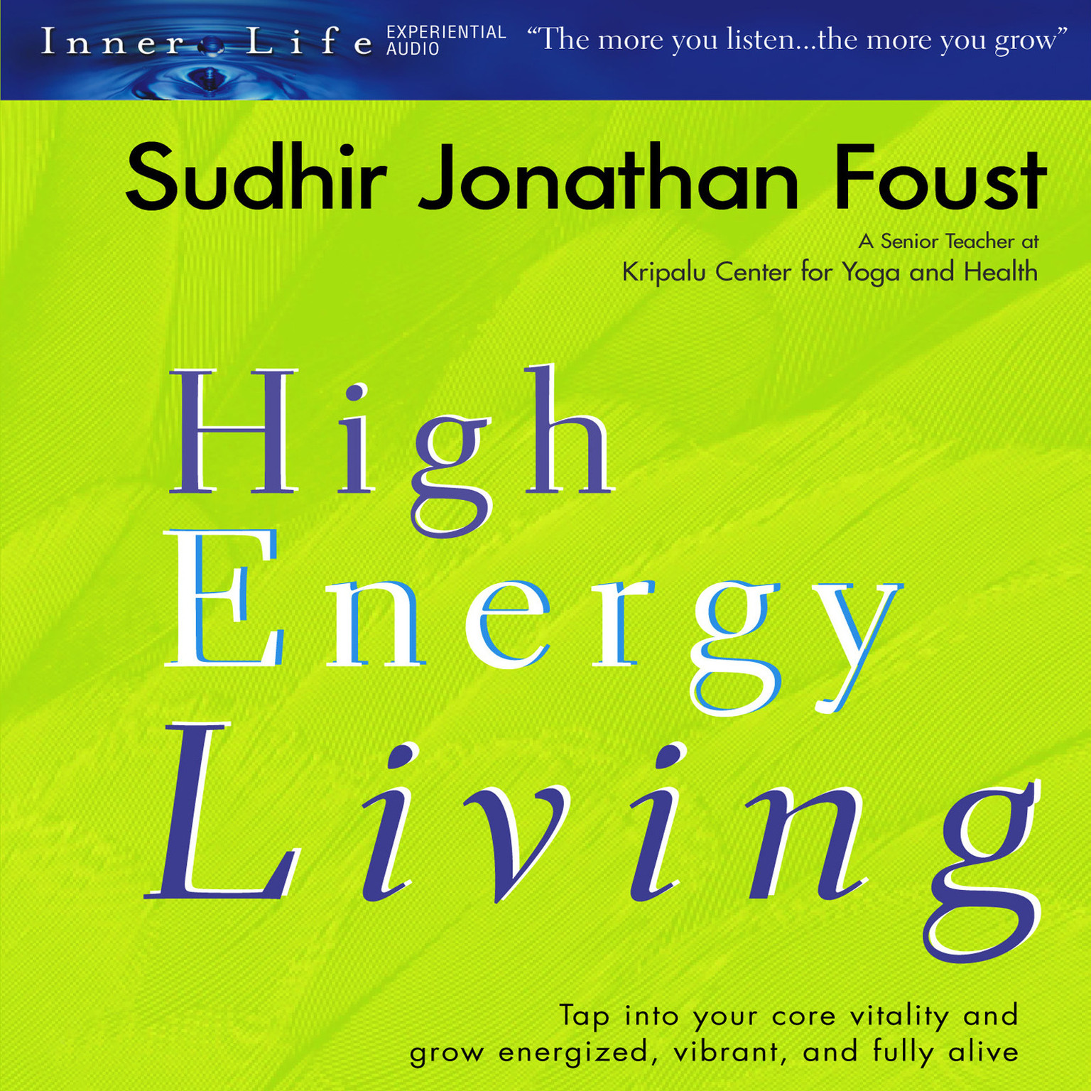 Printable High Energy Living Audiobook Cover Art