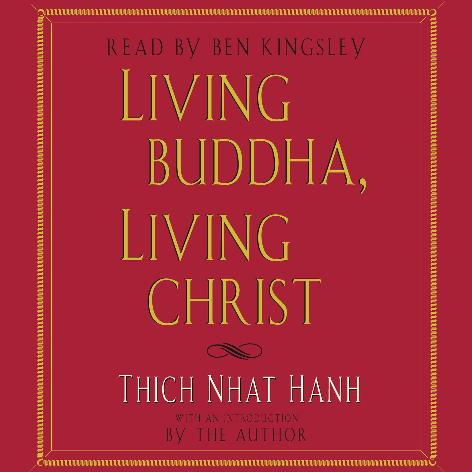Printable Living Buddha, Living Christ Audiobook Cover Art