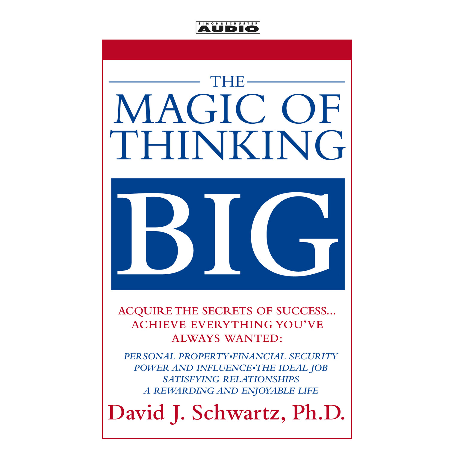 Printable The Magic of Thinking Big Audiobook Cover Art
