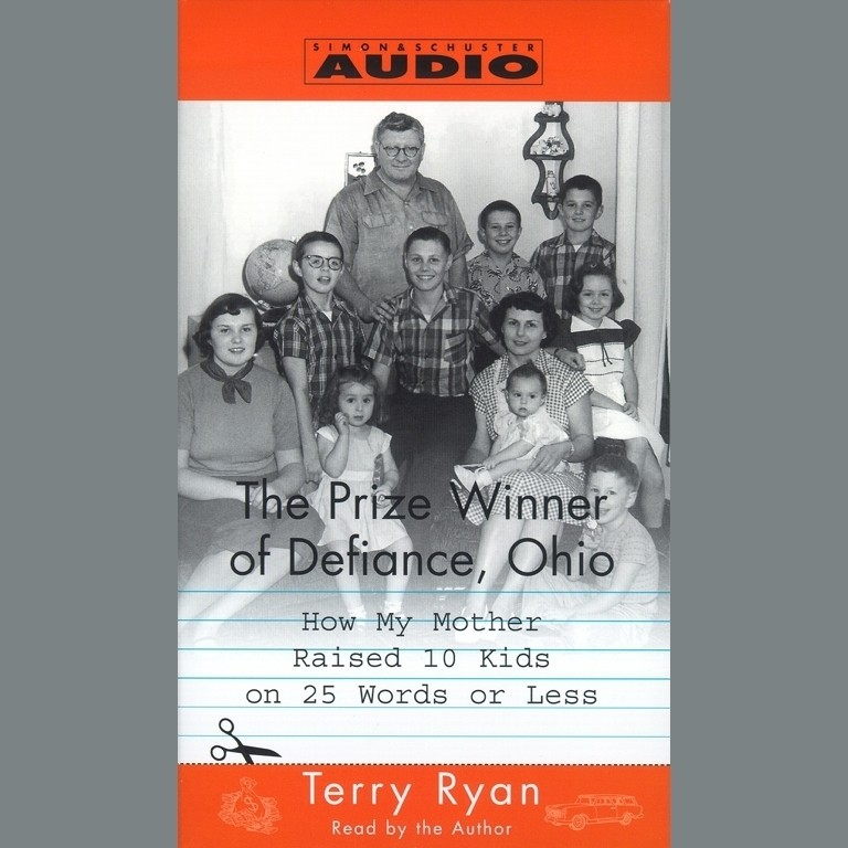 Printable The Prize Winner of Defiance, Ohio: How My Mother Raised 10 Kids on 25 Words or Less Audiobook Cover Art