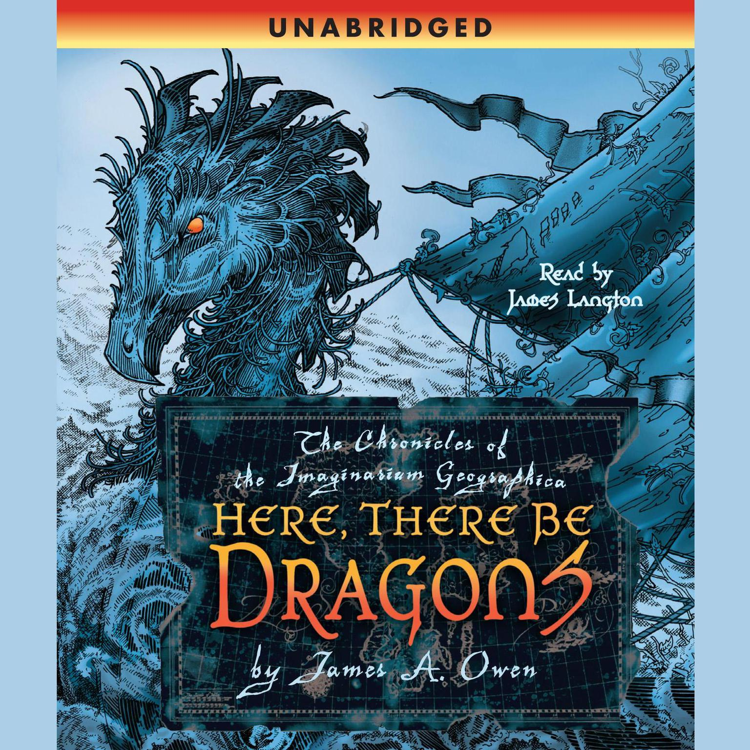 Printable Here, There Be Dragons Audiobook Cover Art
