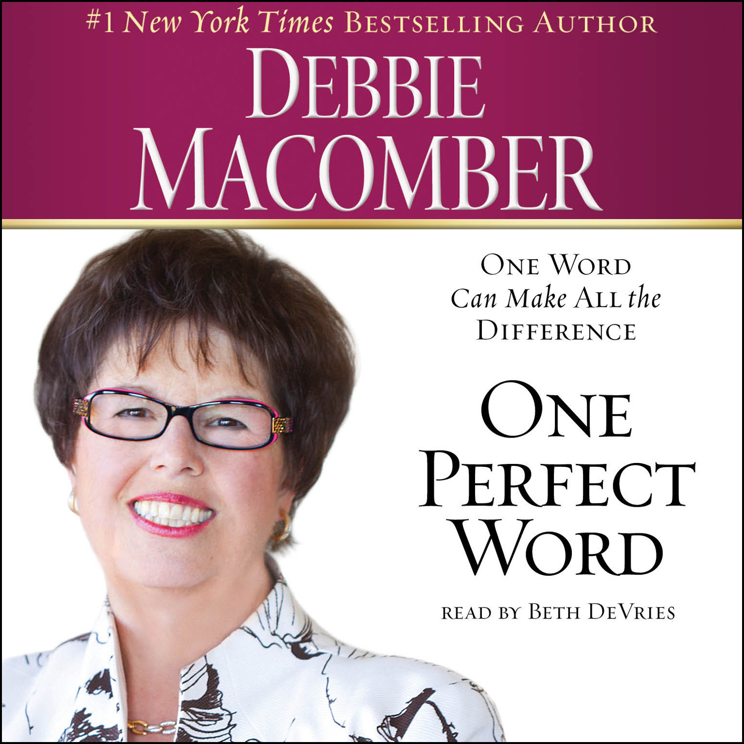 Printable One Perfect Word: One Word Can Make All the Difference Audiobook Cover Art