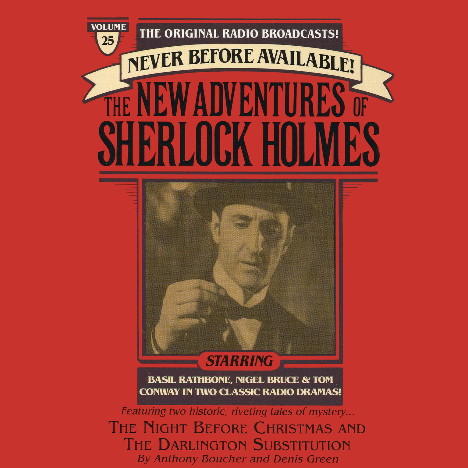 Printable The Night Before Christmas and The Darlington Substitution: The New Adventures of Sherlock Holmes, Episode #25 Audiobook Cover Art