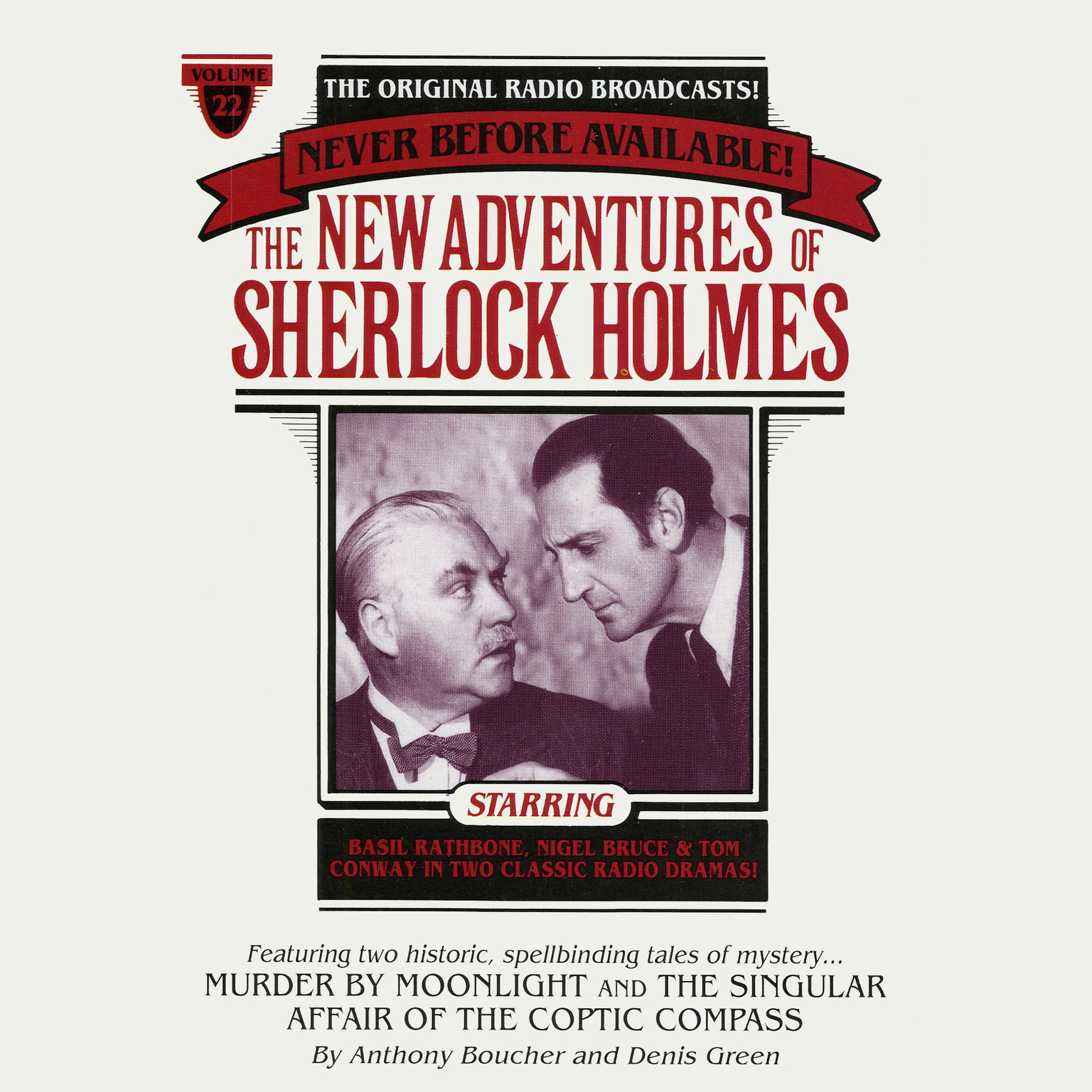 Printable Murder by Moonlight and The Singular Affair of the Coptic Compass: The New Adventures of Sherlock Holmes, Episode #22 Audiobook Cover Art