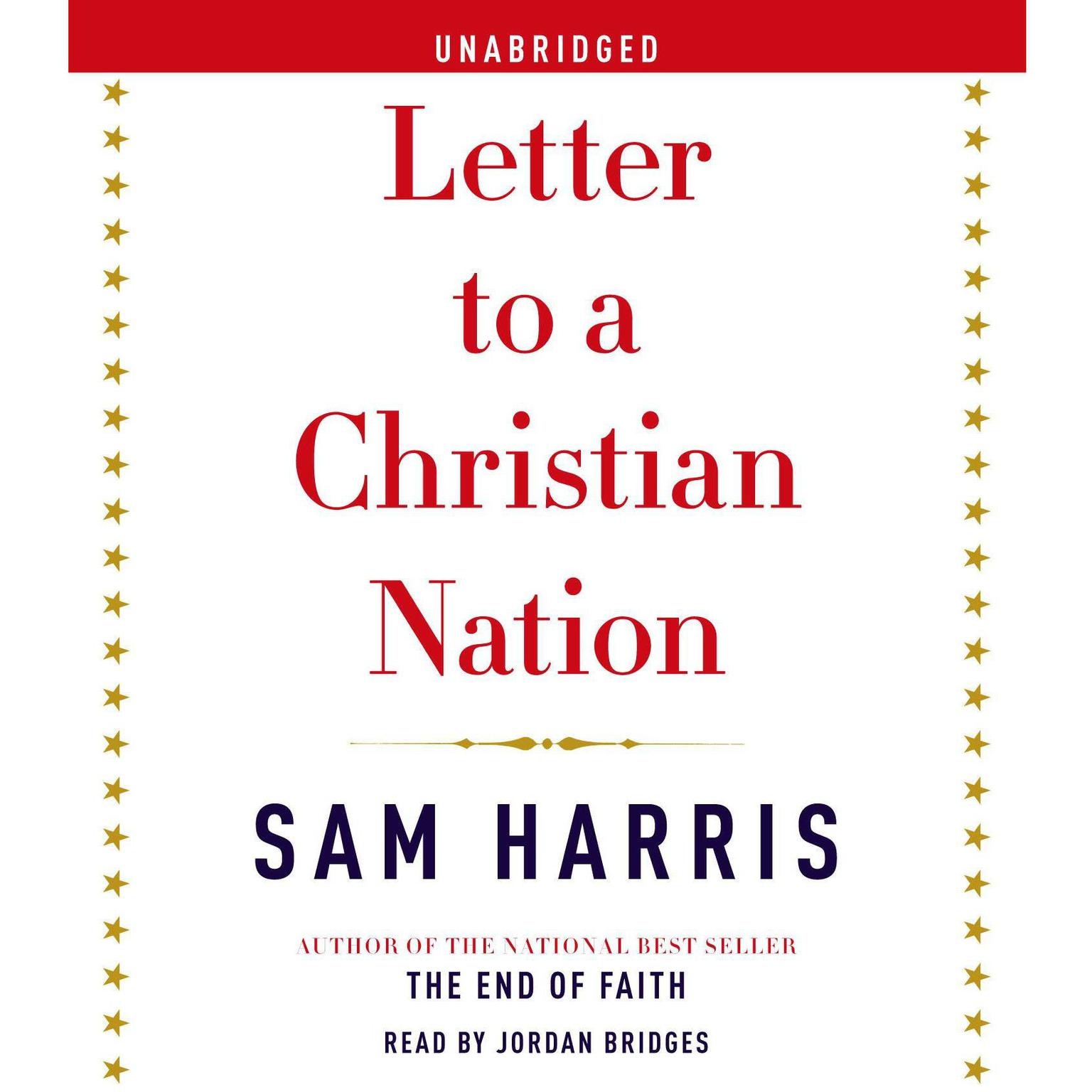 Printable Letter to a Christian Nation Audiobook Cover Art