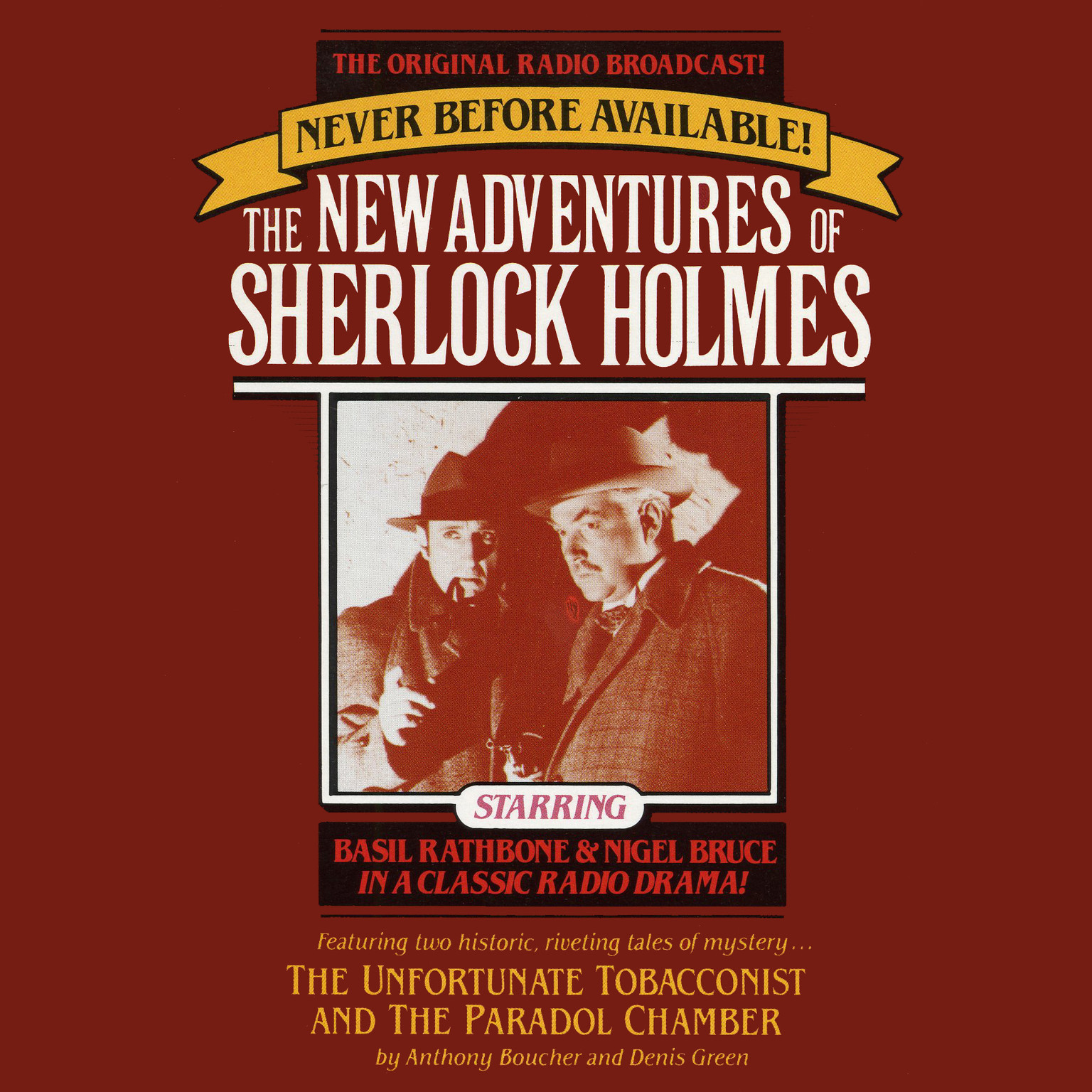 Printable The Unfortunate Tobacconist and The Paradol Chamber: The New Adventures of Sherlock Holmes, Episode 1 Audiobook Cover Art