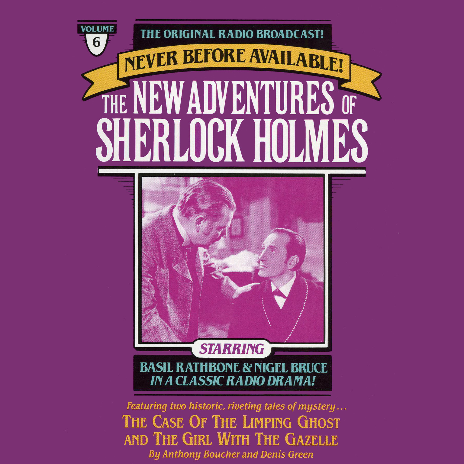 Printable The Case of the Limping Ghost and The Girl with the Gazelle: The New Adventures of Sherlock Holmes, Episode 6 Audiobook Cover Art
