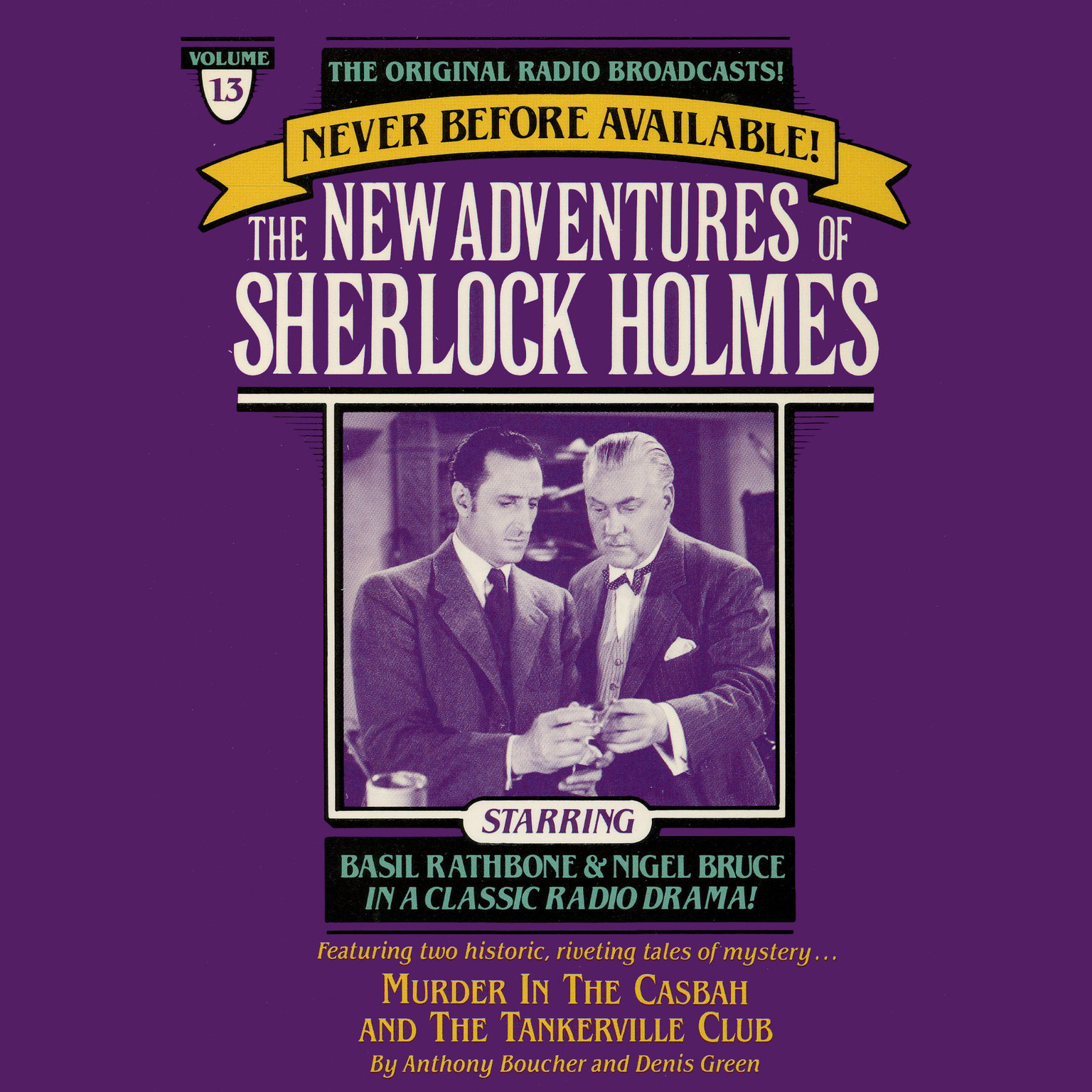 Printable Murder in the Casbah and The Tankerville Club: The New Adventures of Sherlock Holmes, Episode 13 Audiobook Cover Art