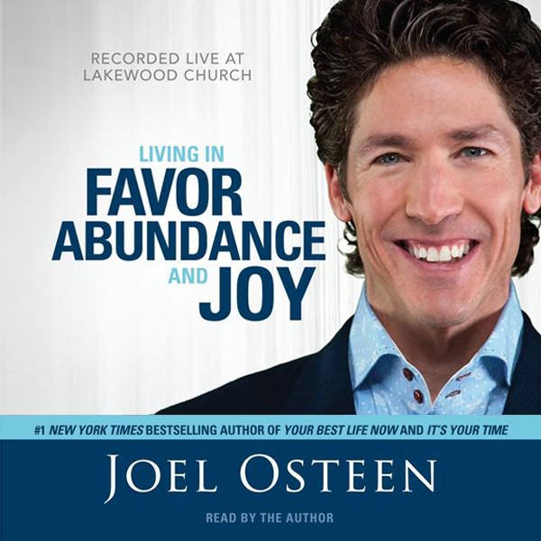 Printable Living in Favor, Abundance and Joy Audiobook Cover Art