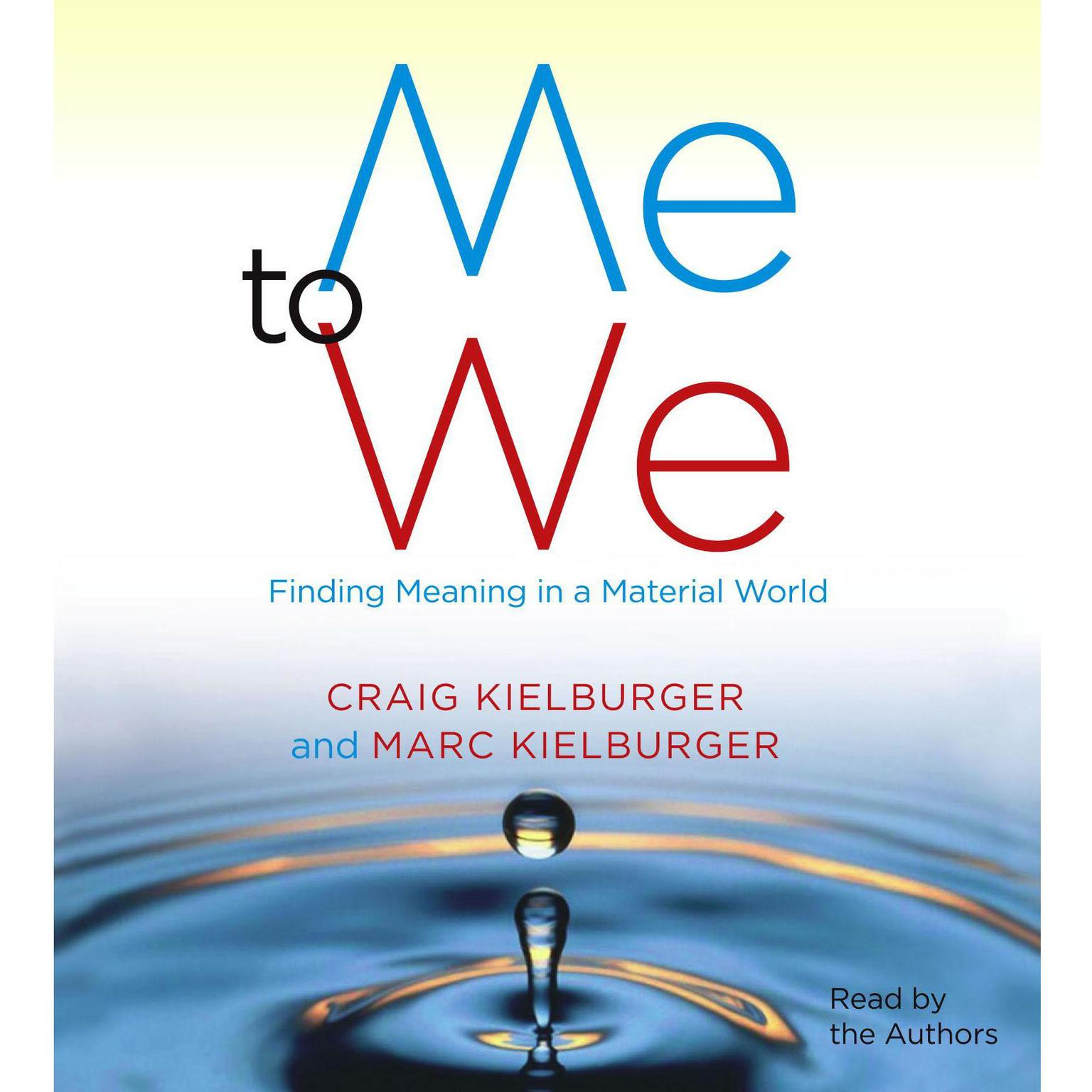 Printable Me to We: Finding Meaning in a Material World Audiobook Cover Art