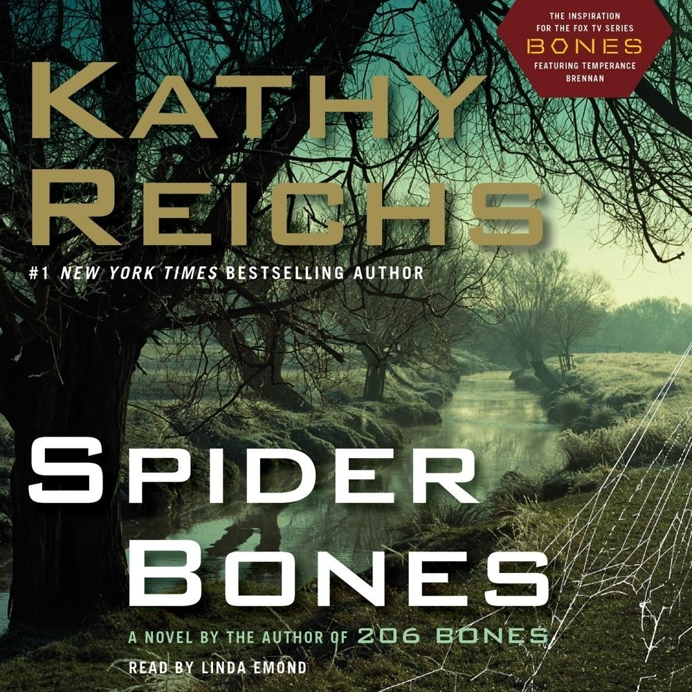 Printable Spider Bones: A Novel Audiobook Cover Art