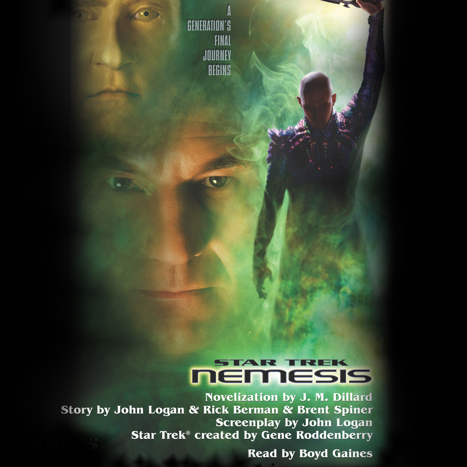 Printable Star Trek: Nemesis Movie-tie In Audiobook Cover Art