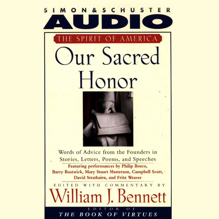 Printable Our Sacred Honor: Words of Advice from the Founders in Stories, Letters, Poems, and Speeches Audiobook Cover Art