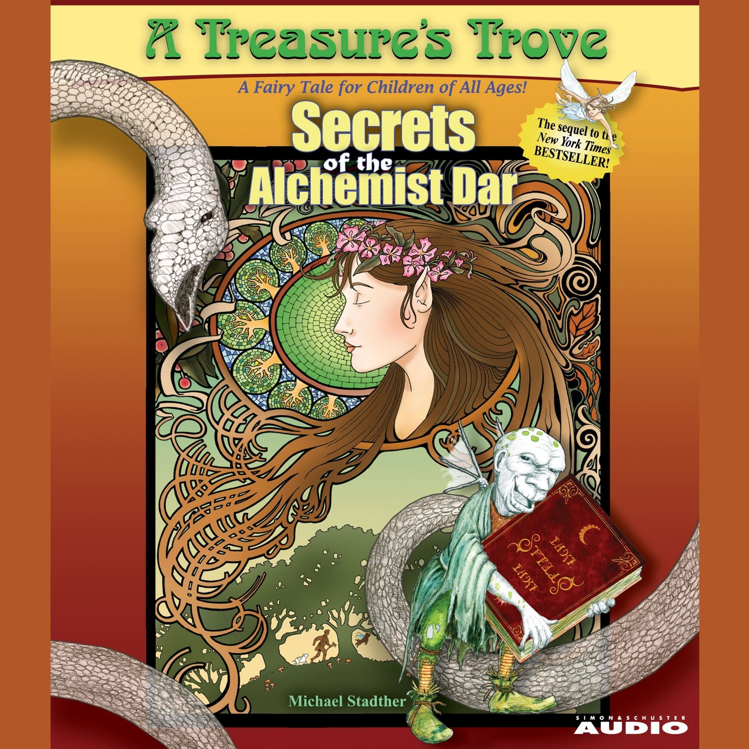 Printable Secrets of the Alchemist Dar: A Treasure's Trove Audiobook Cover Art