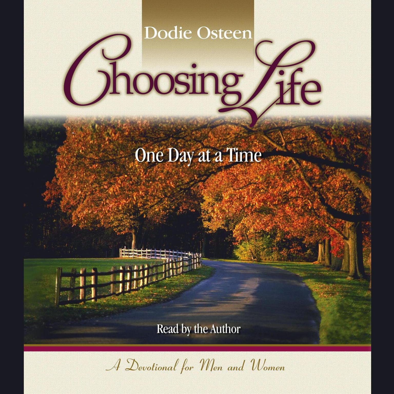 Printable Choosing Life: One Day at a Time Audiobook Cover Art