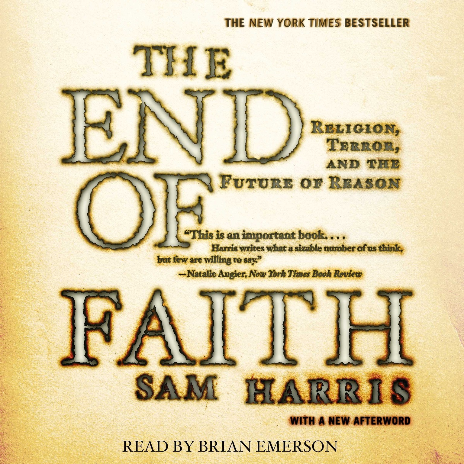 Printable The End of Faith Audiobook Cover Art
