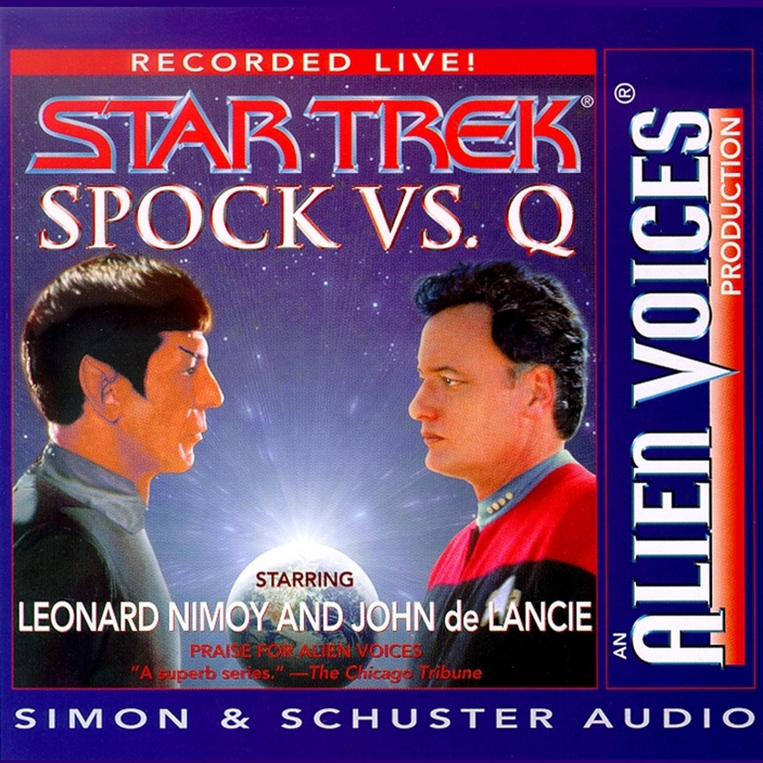 Printable Spock Vs. Q Audiobook Cover Art