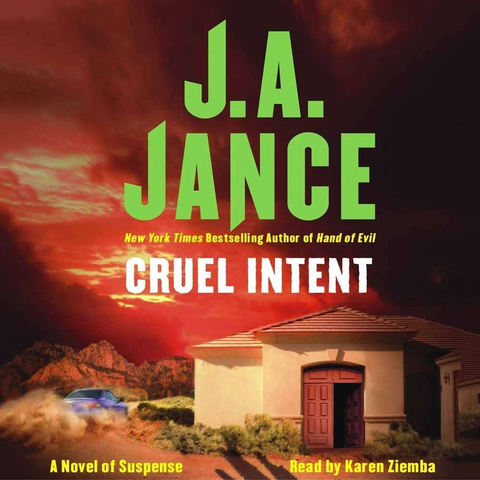 Printable Cruel Intent: A Novel of Suspense Audiobook Cover Art