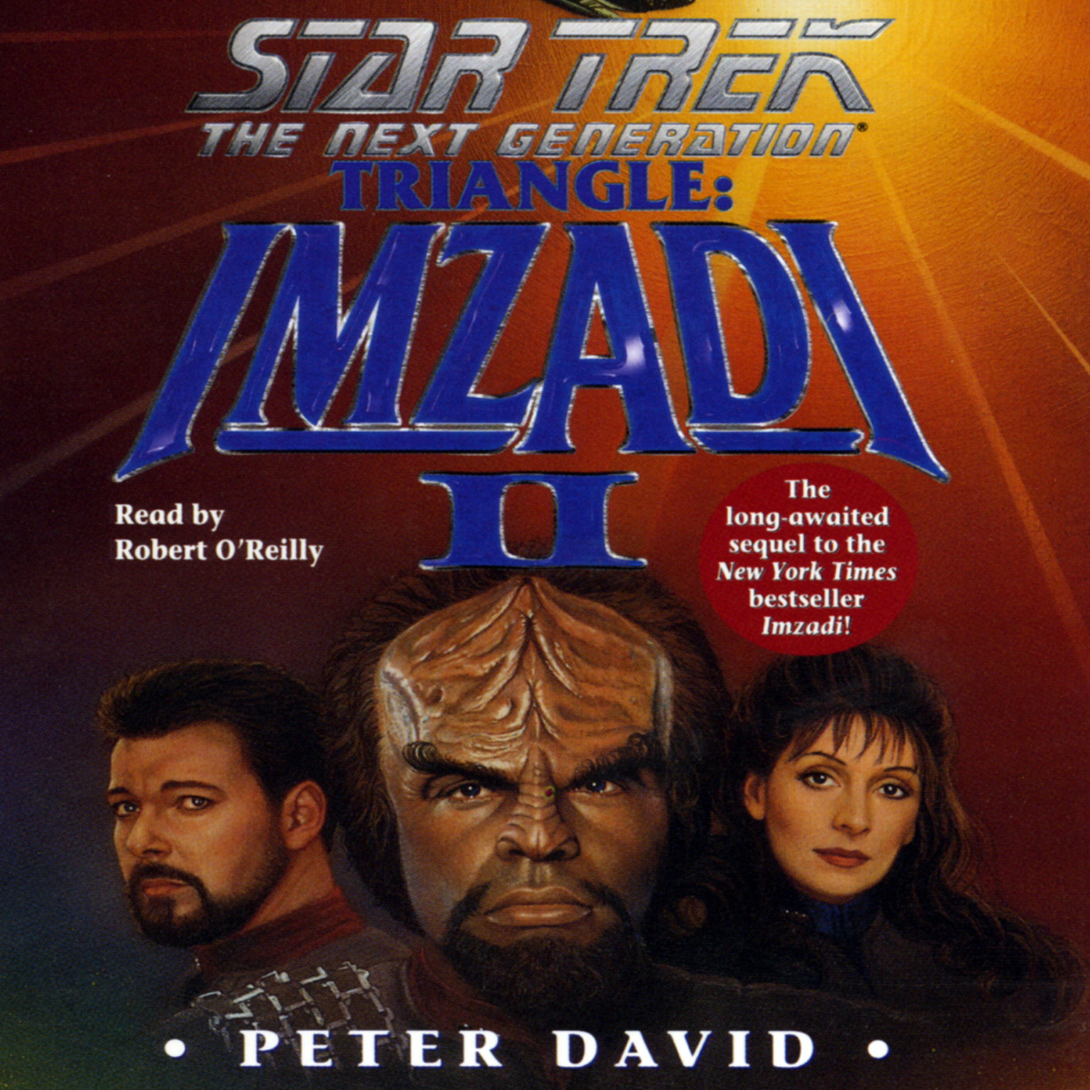 Printable Star Trek: The Next Generation: Triangle: Imzadi II: Triangle: Imzadi II Audiobook Cover Art