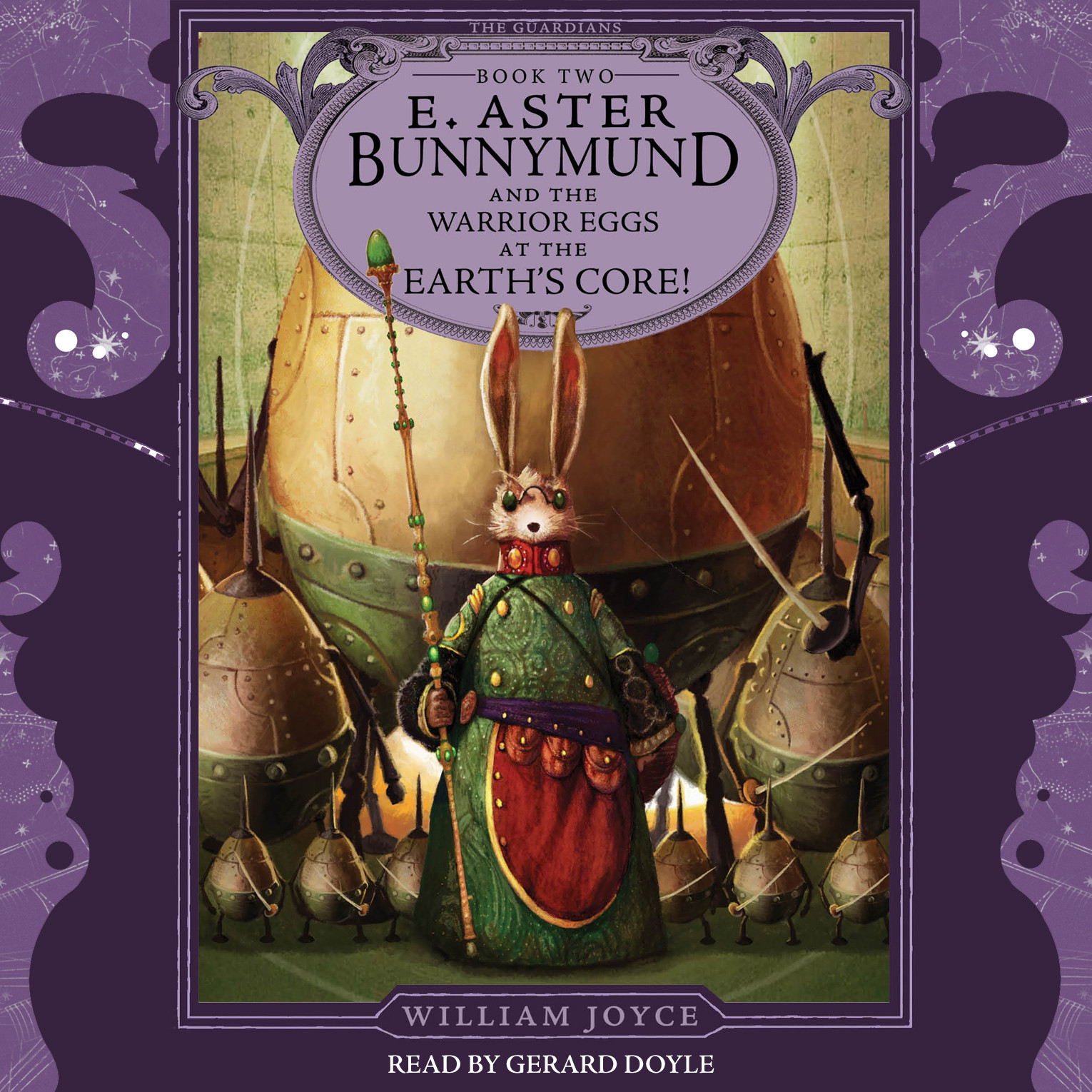 Printable E. Aster Bunnymund and the Warrior Eggs at the Earth's Core! Audiobook Cover Art