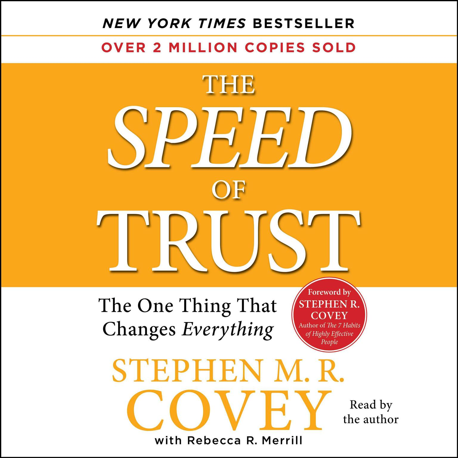 Printable The Speed of Trust: The One Thing That Changes Everything Audiobook Cover Art