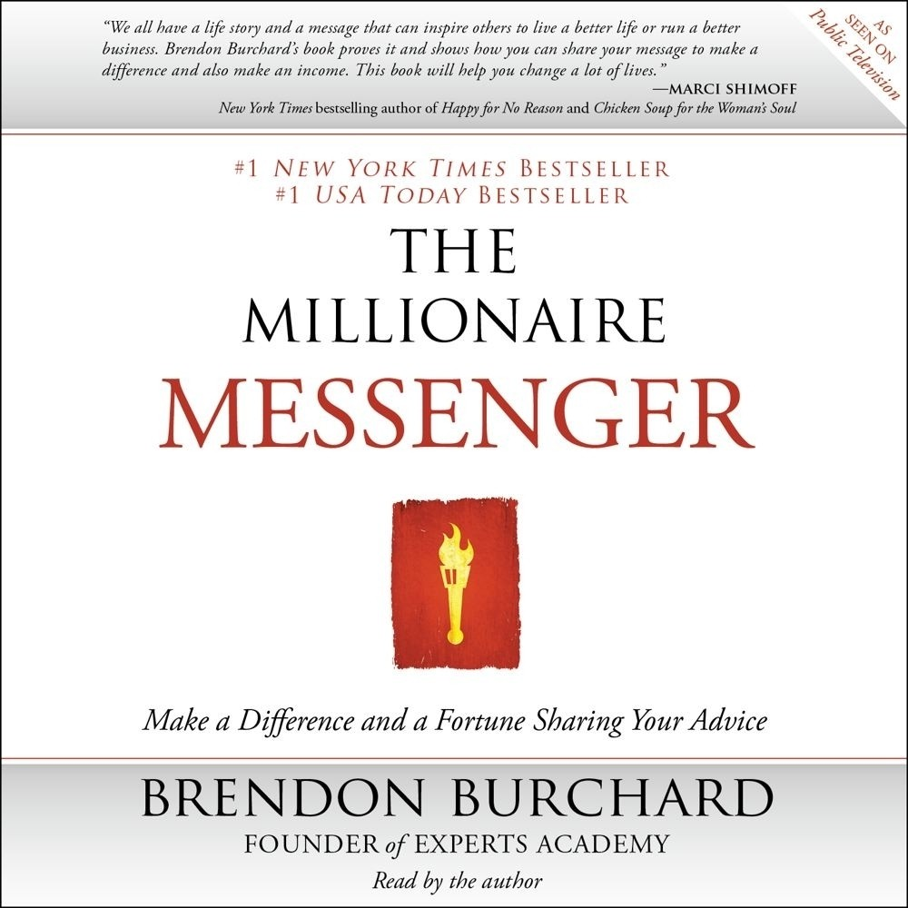 Printable The Millionaire Messenger: Make a Difference and a Fortune Sharing Your Advice Audiobook Cover Art