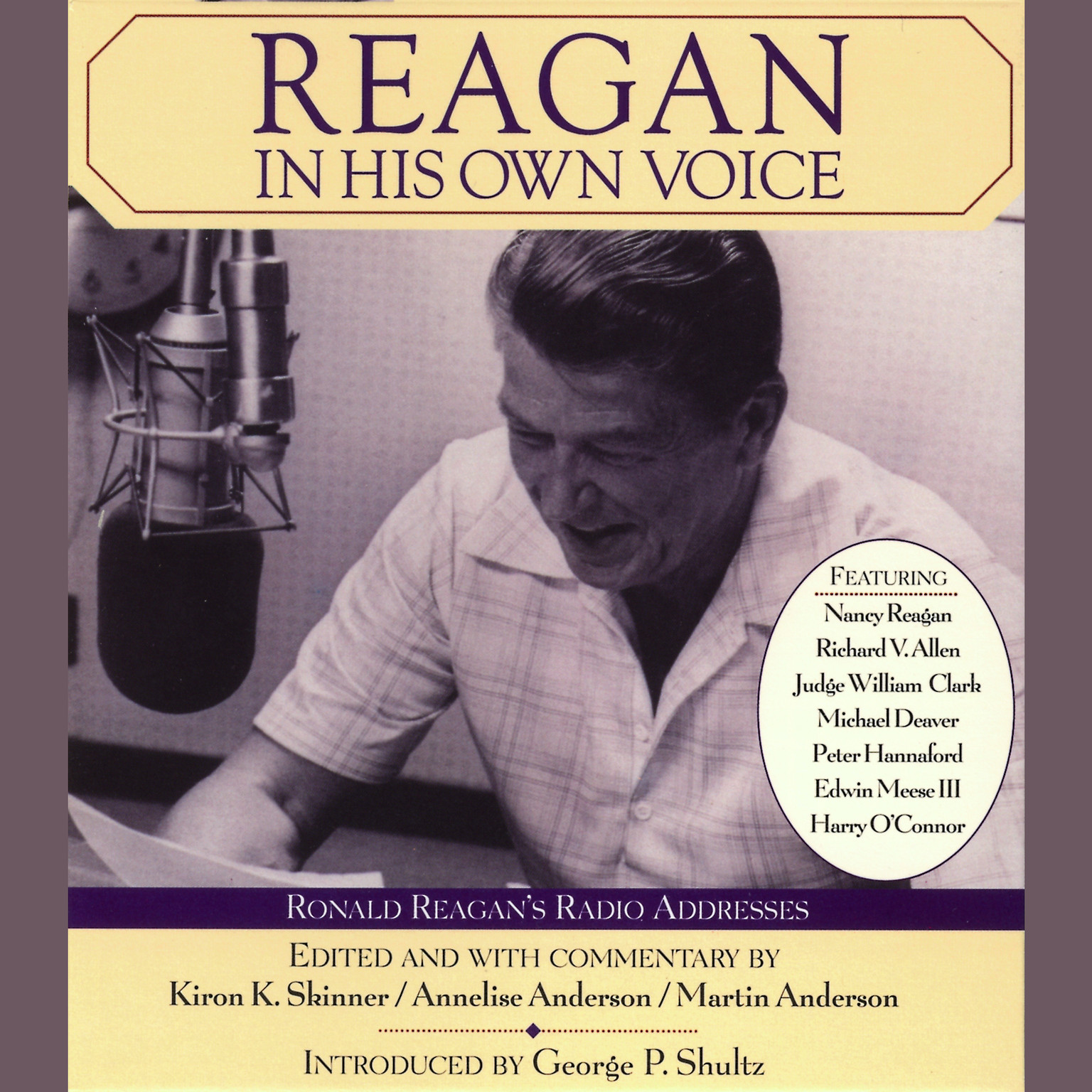 Printable Reagan In His Own Voice Audiobook Cover Art