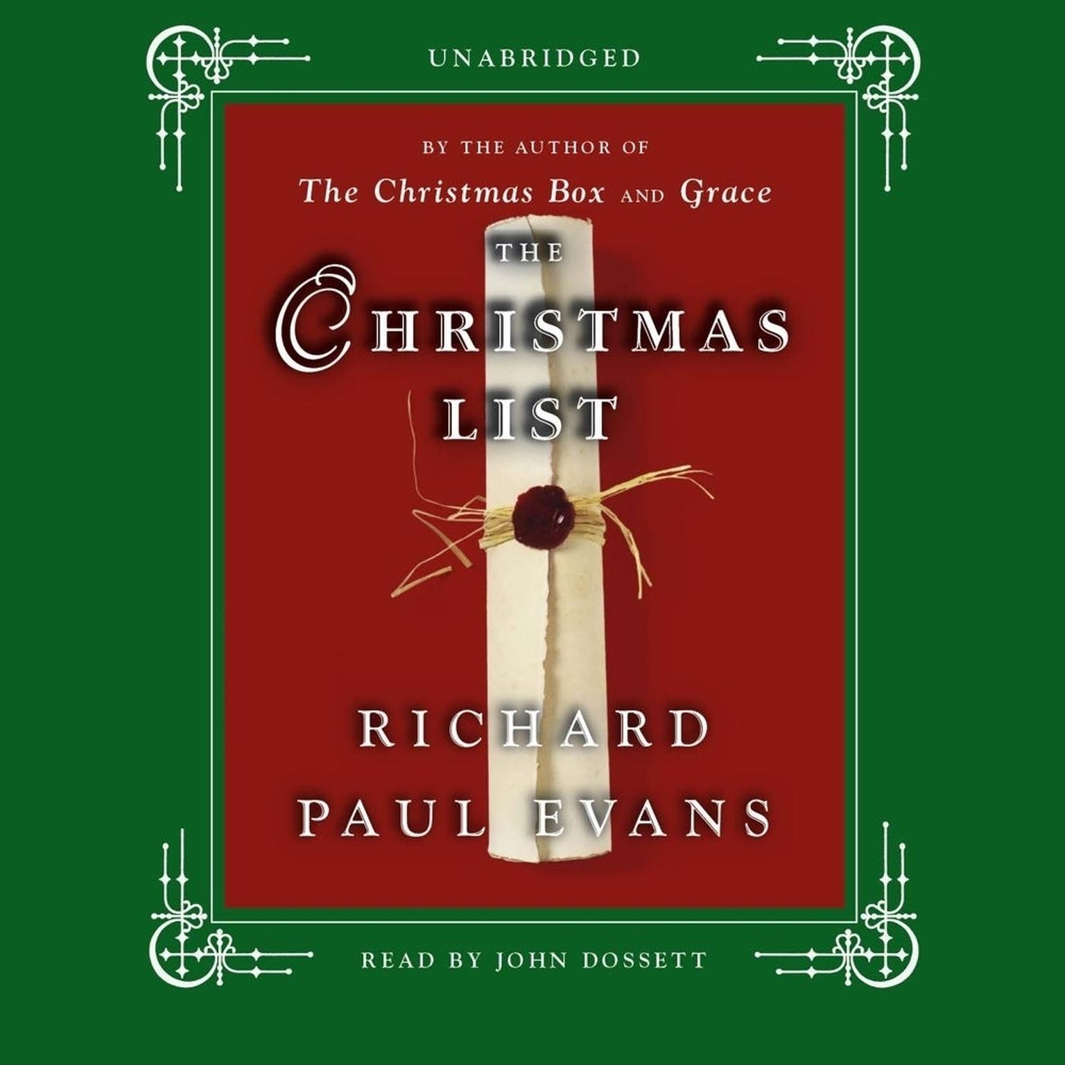 Printable The Christmas List: A Novel Audiobook Cover Art
