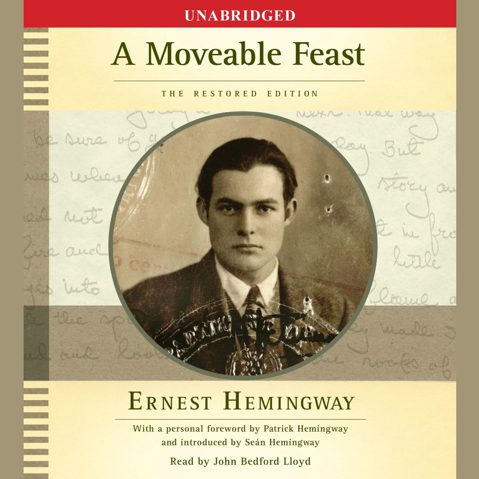 Printable A Moveable Feast: The Restored Edition Audiobook Cover Art
