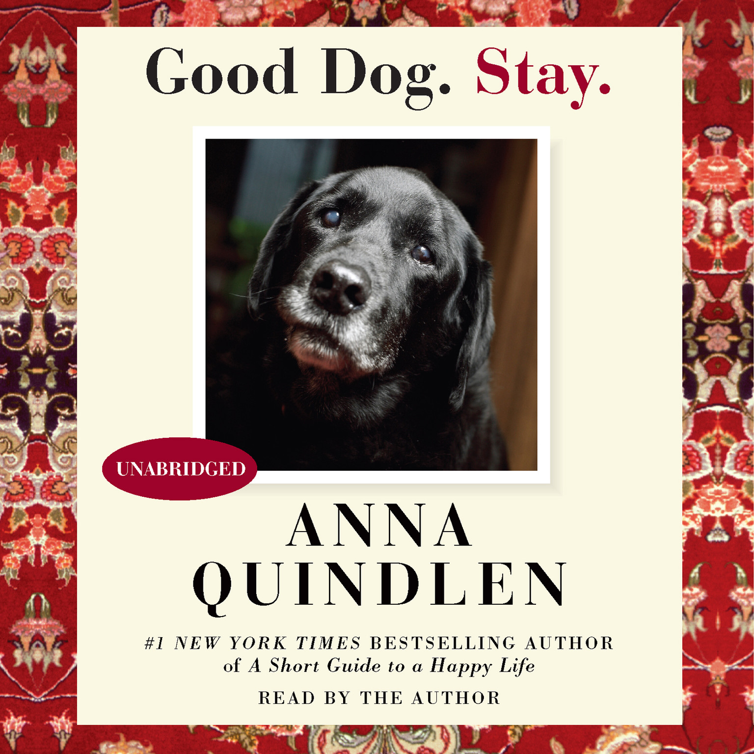 Printable Good Dog. Stay. Audiobook Cover Art
