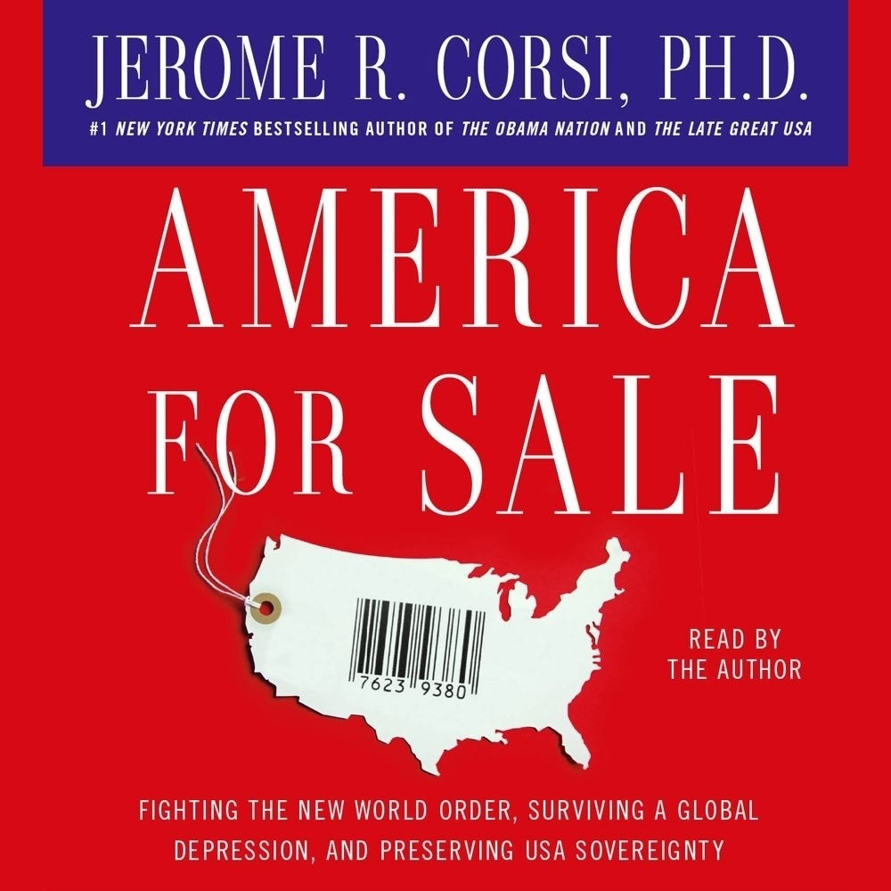 Printable America for Sale: Fighting the New World Order, Surviving a Global Depression, and Preserving USA Sovereignty Audiobook Cover Art