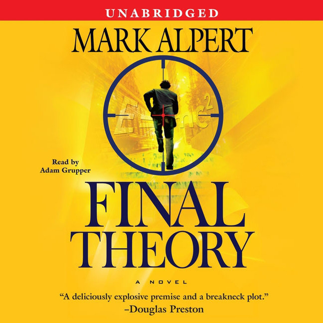 Printable Final Theory: A Novel Audiobook Cover Art