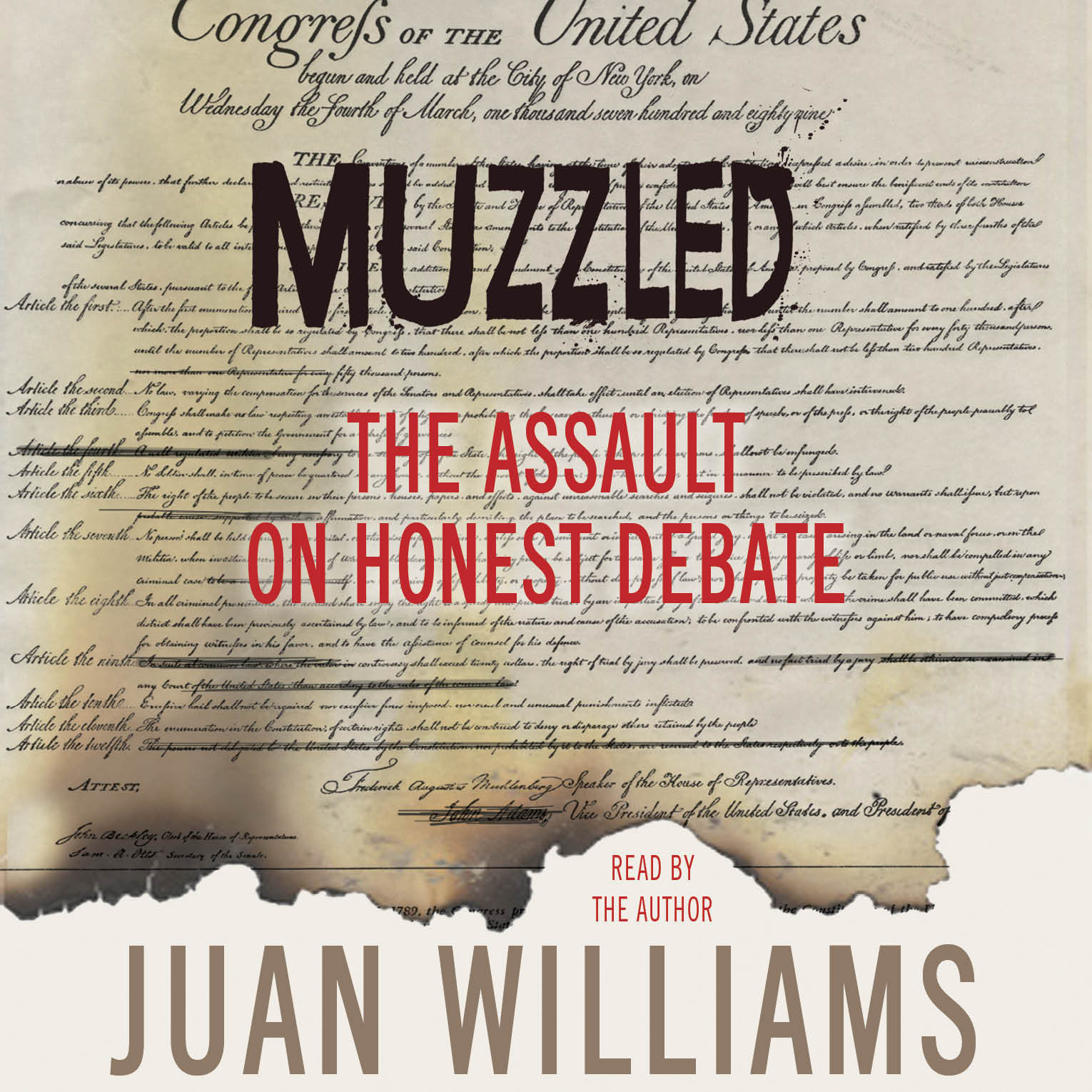 Printable Muzzled: The Assault on Honest Debate Audiobook Cover Art