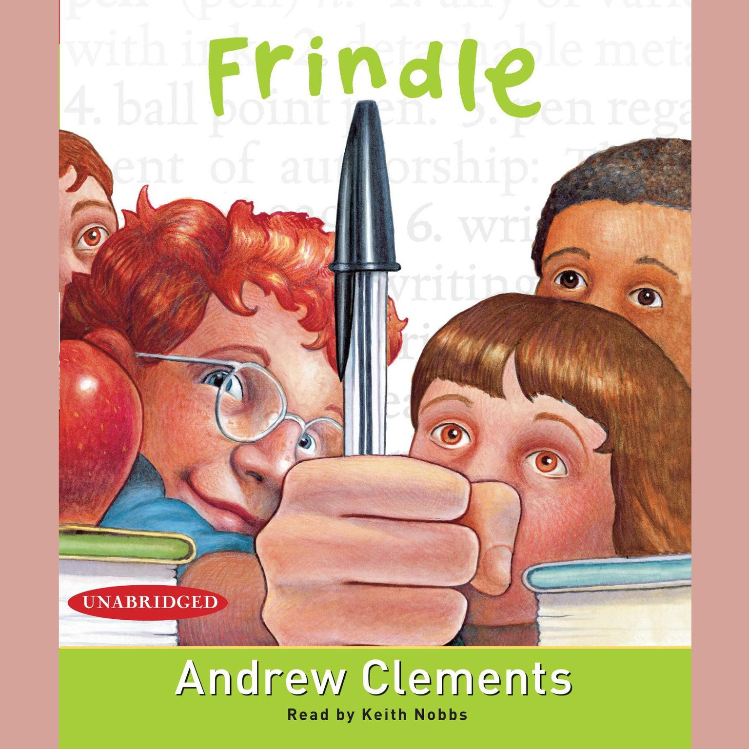 Printable Frindle Audiobook Cover Art