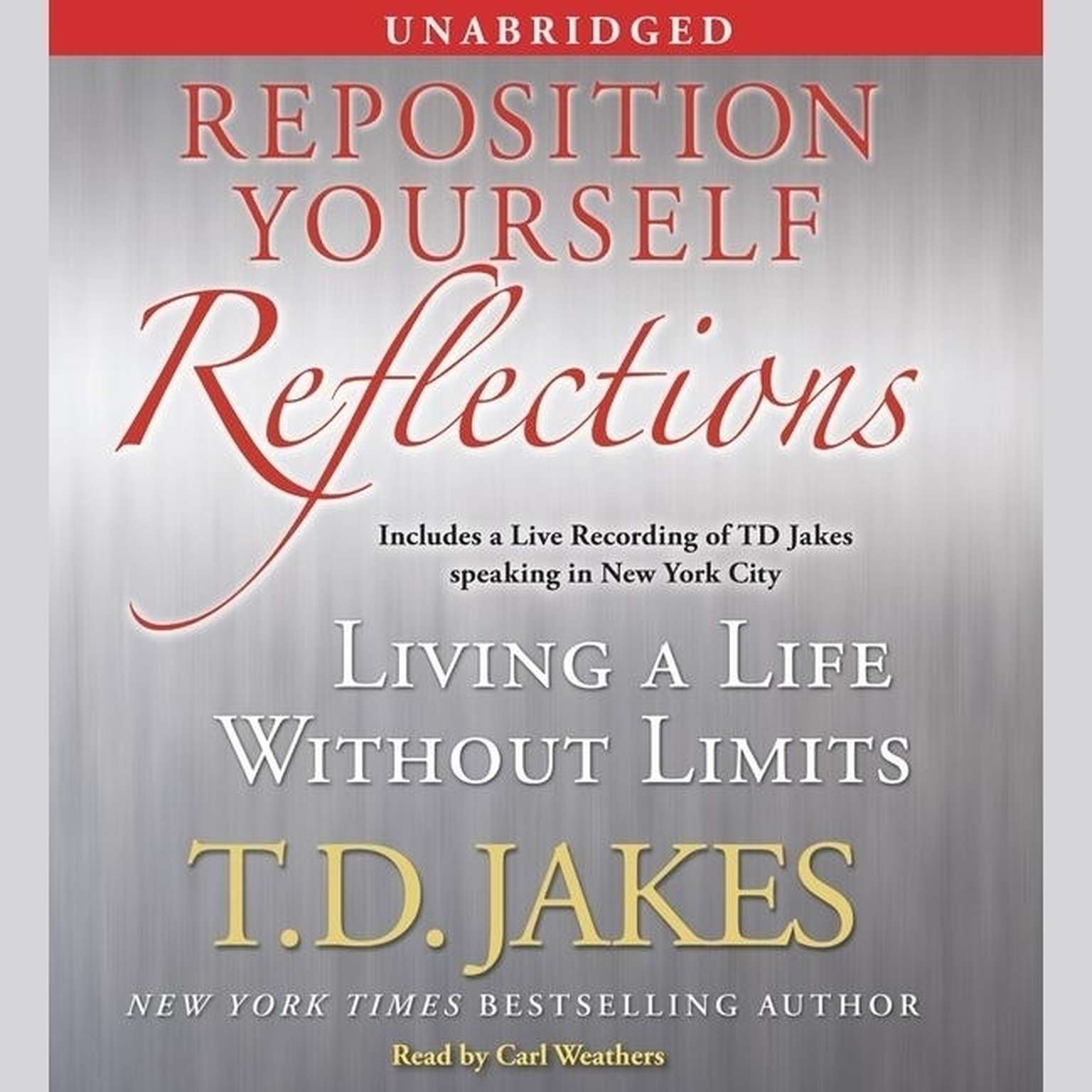 Printable Reposition Yourself Reflections: Living a Life Without Limits Audiobook Cover Art
