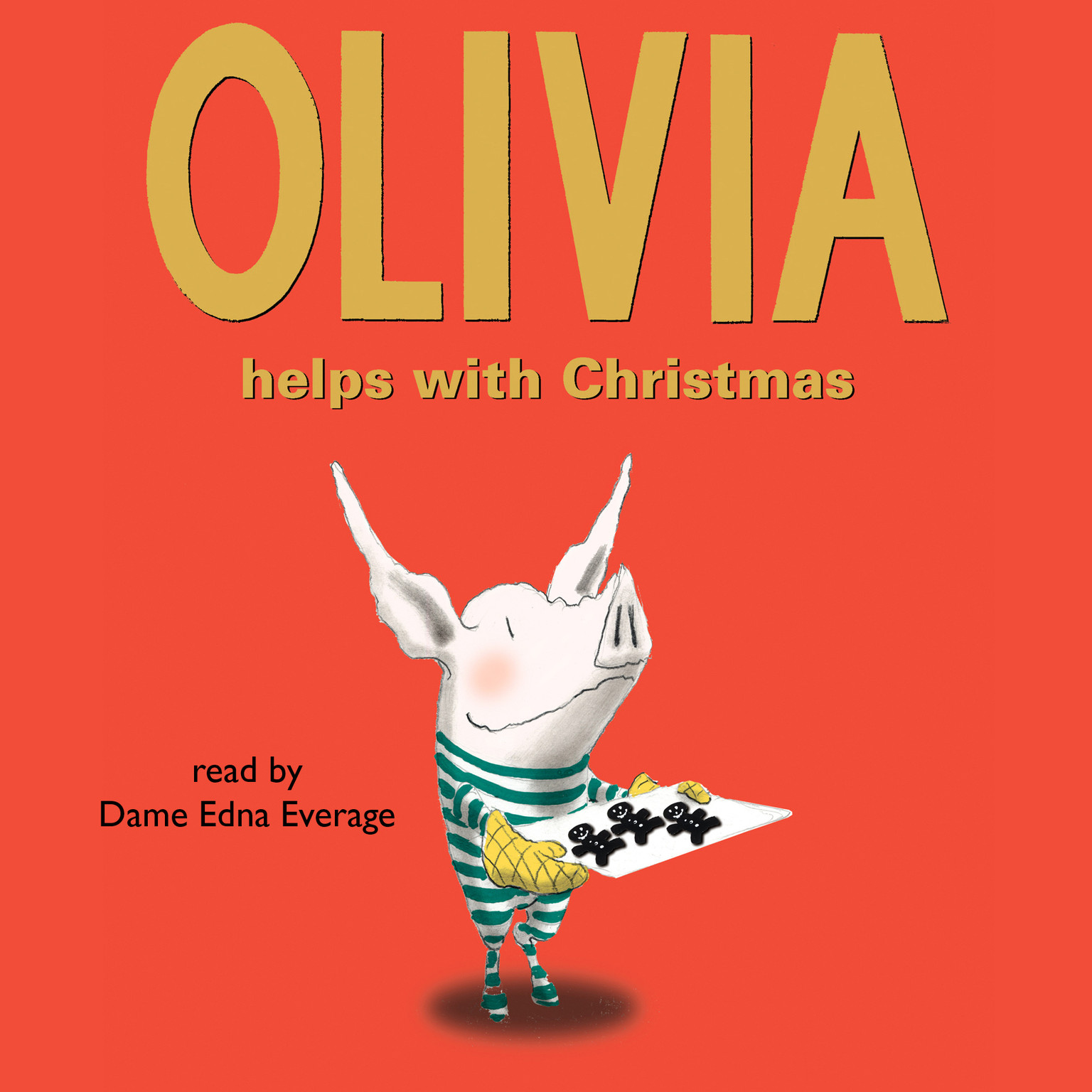 Printable Olivia Helps with Christmas Audiobook Cover Art