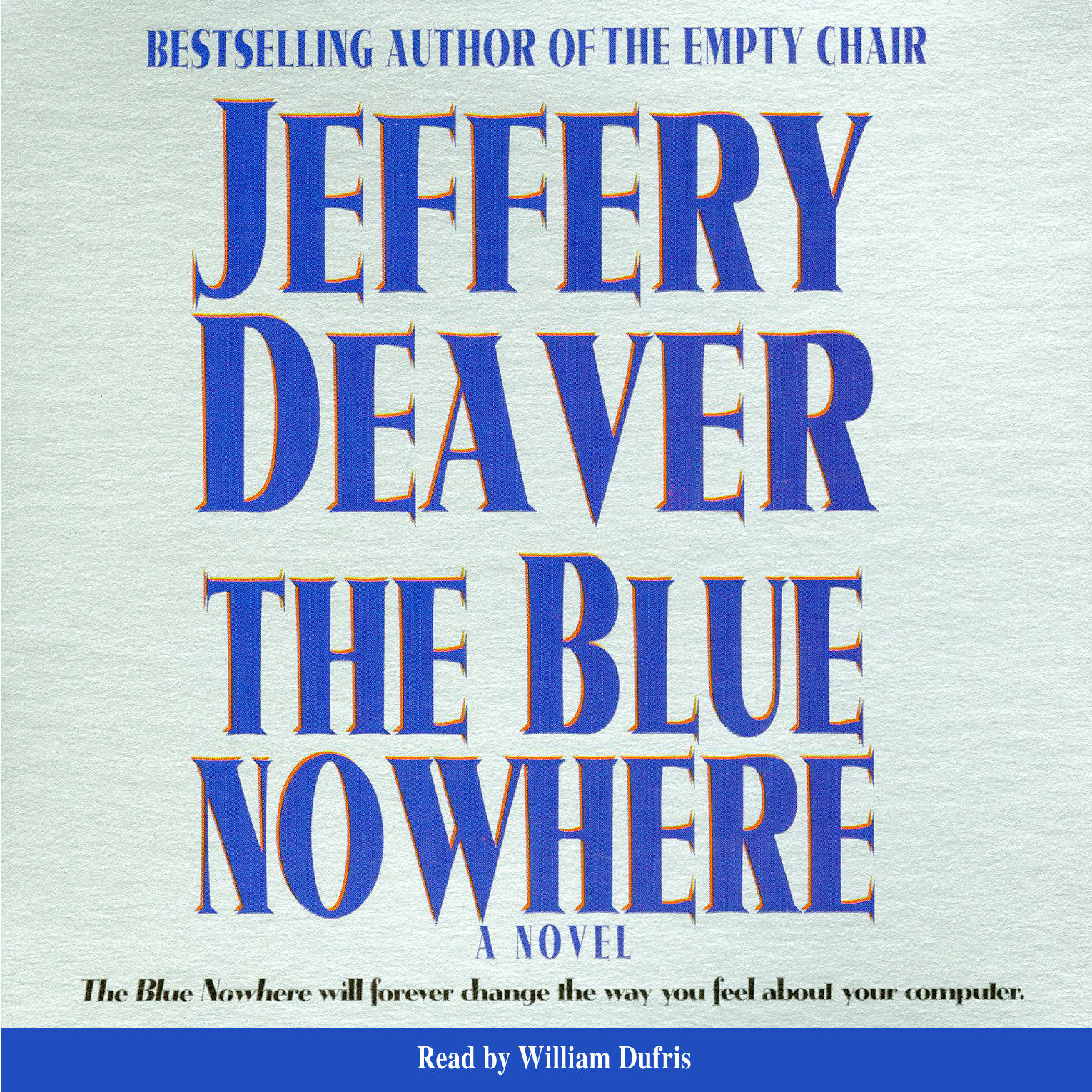 Printable Blue Nowhere Audiobook Cover Art