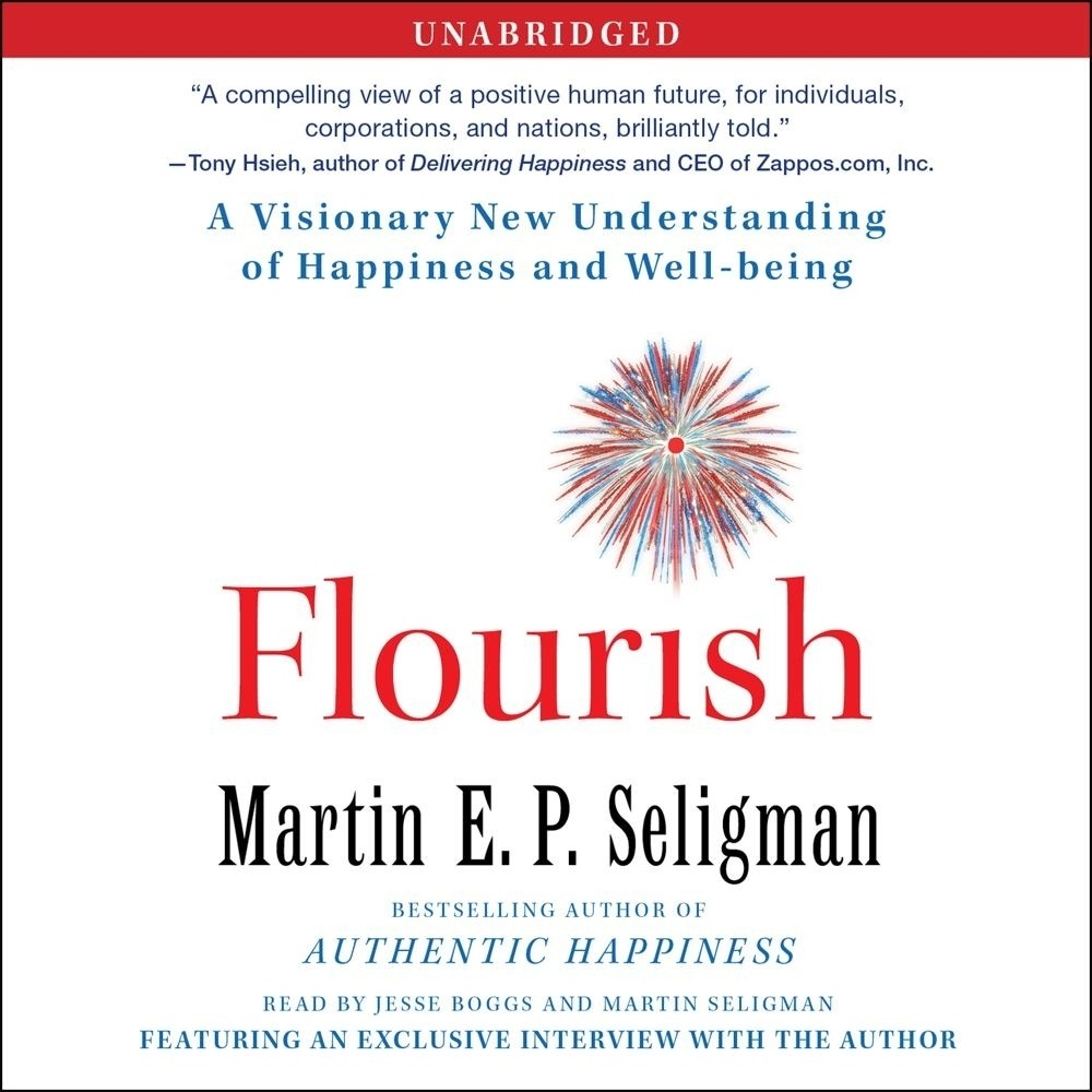 Printable Flourish: A Visionary New Understanding of Happiness and Well-being Audiobook Cover Art