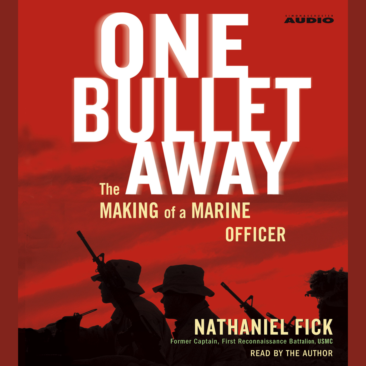 Printable One Bullet Away: The Making of a Marine Officer Audiobook Cover Art