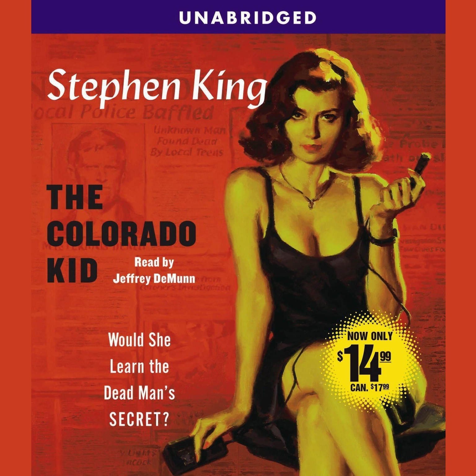 Printable The Colorado Kid: Hard Case Crime Audiobook Cover Art