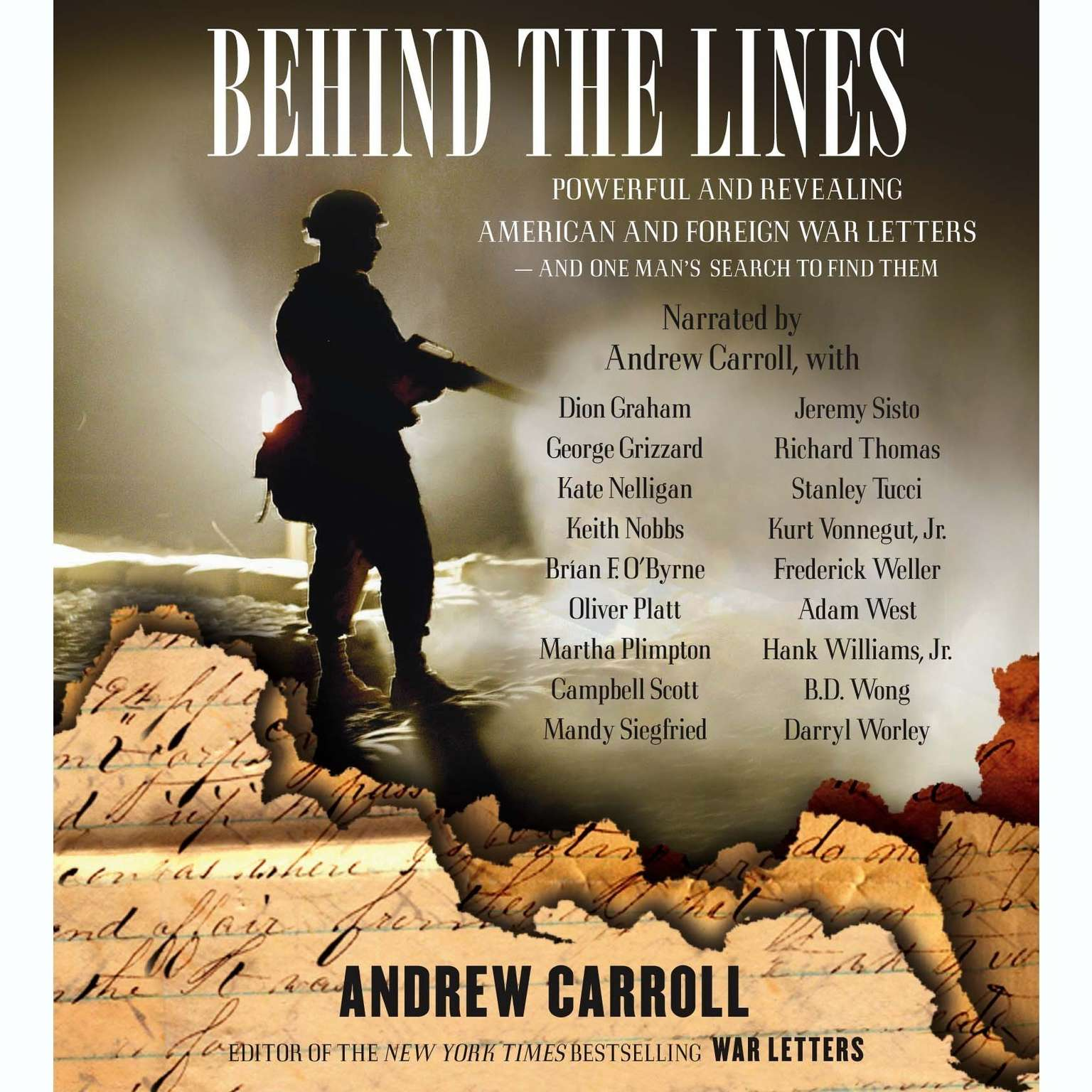 Printable Behind the Lines: Powerful and Revealing American and Foreign War Letters and One Man's Search to Find Them Audiobook Cover Art